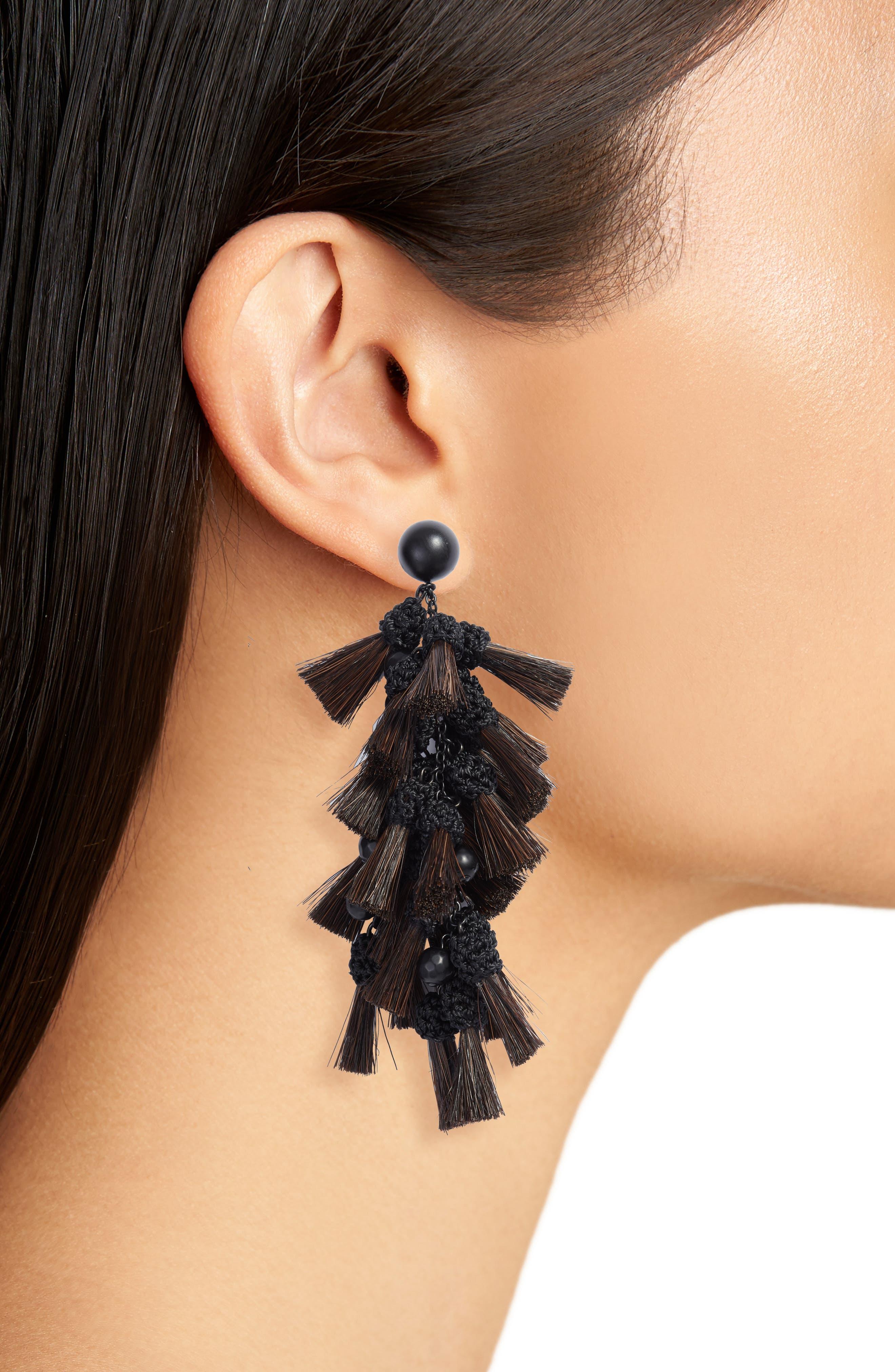 Tassel Drop Earrings,                             Alternate thumbnail 2, color,                             010
