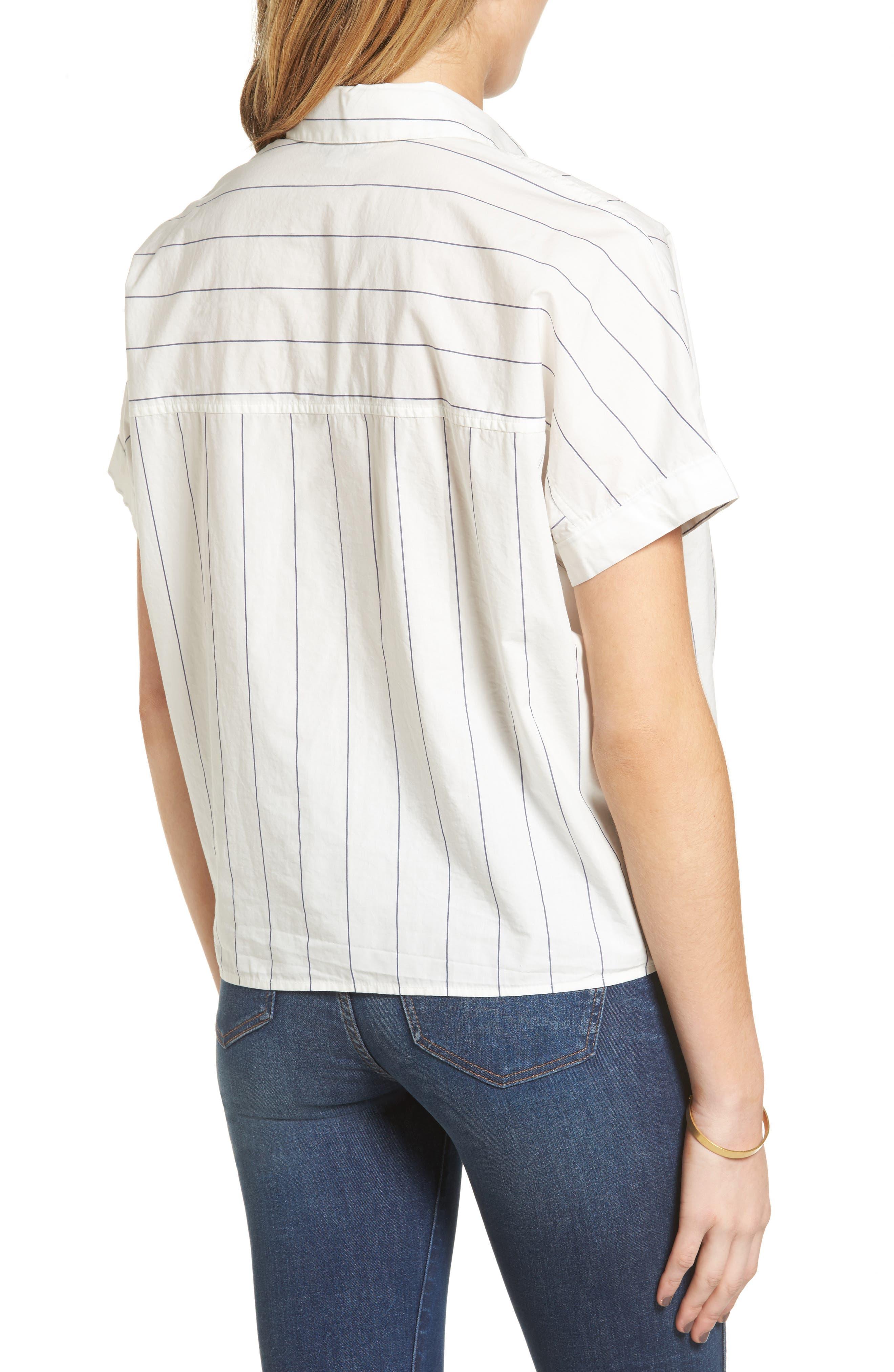 Tie Front Shirt,                             Alternate thumbnail 3, color,                             100
