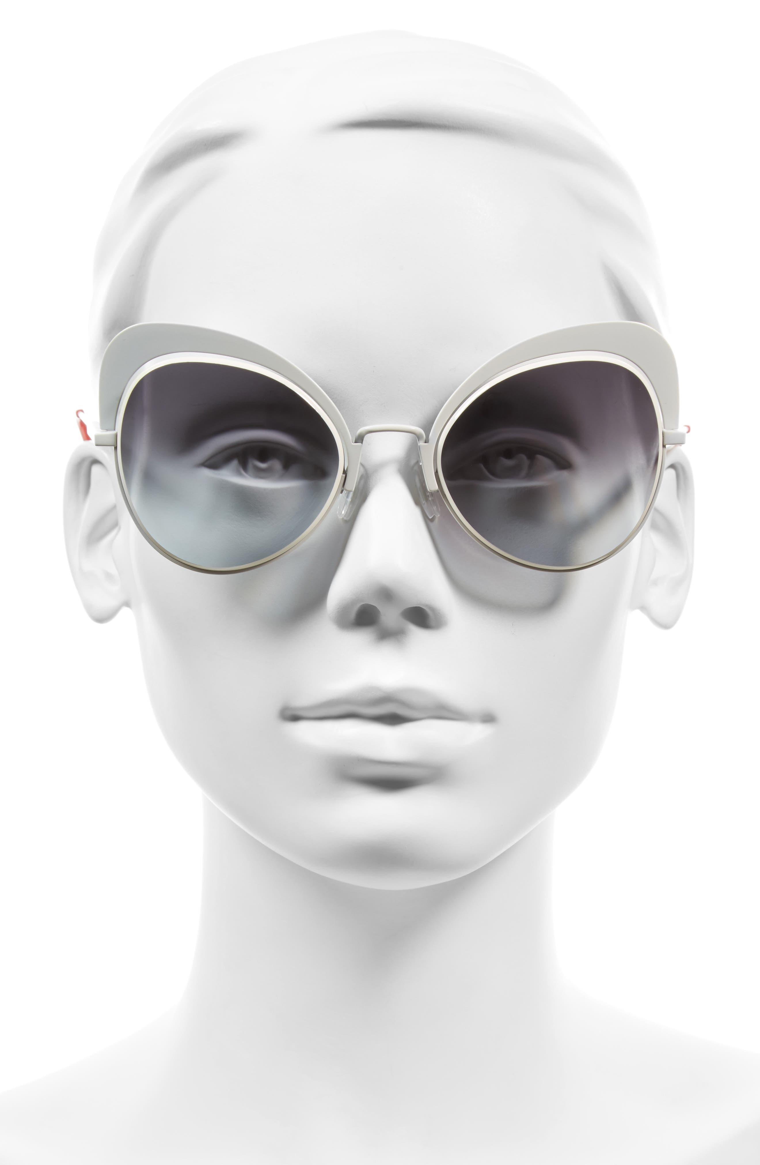 54mm Gradient Cat Eye Sunglasses,                             Alternate thumbnail 2, color,                             100