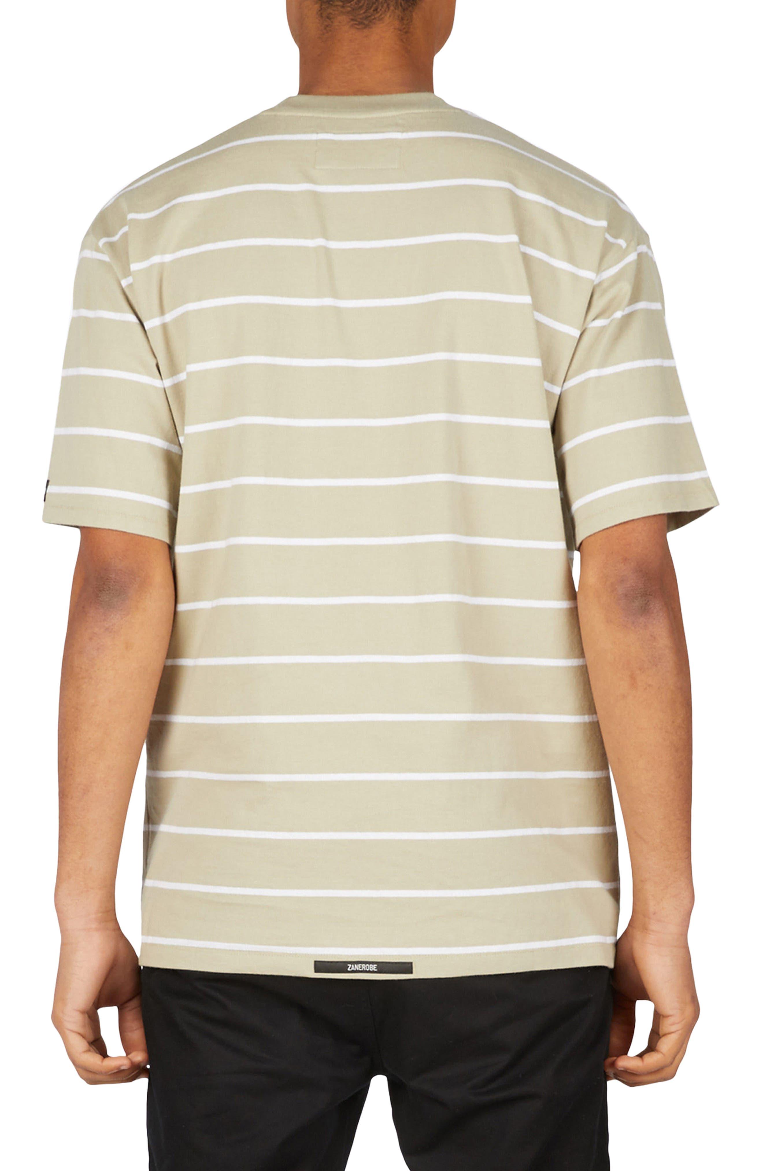 Stripe Box T-Shirt,                             Alternate thumbnail 2, color,                             MOSS/ WHITE