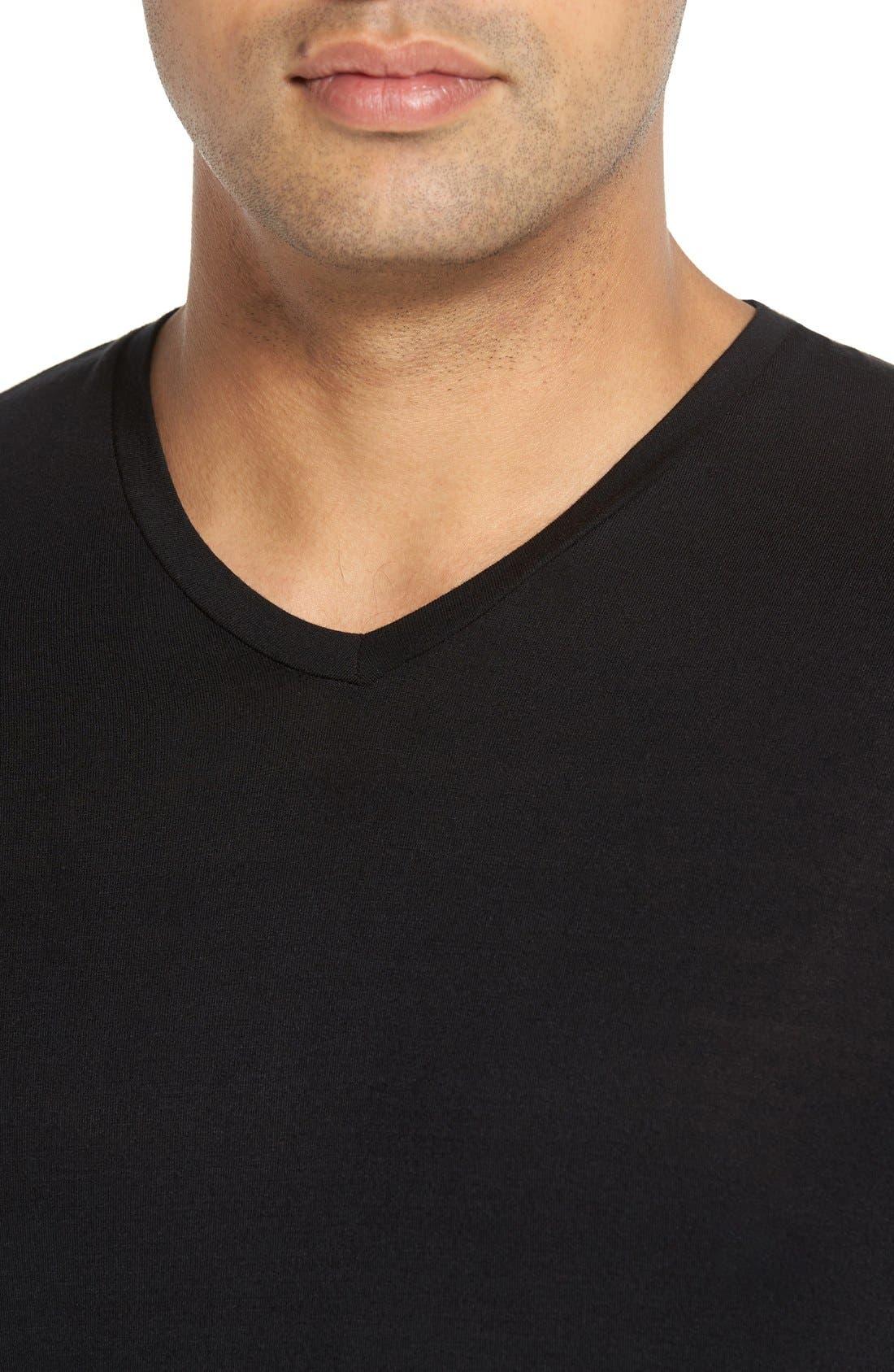 V-Neck T-Shirt,                             Alternate thumbnail 4, color,                             001