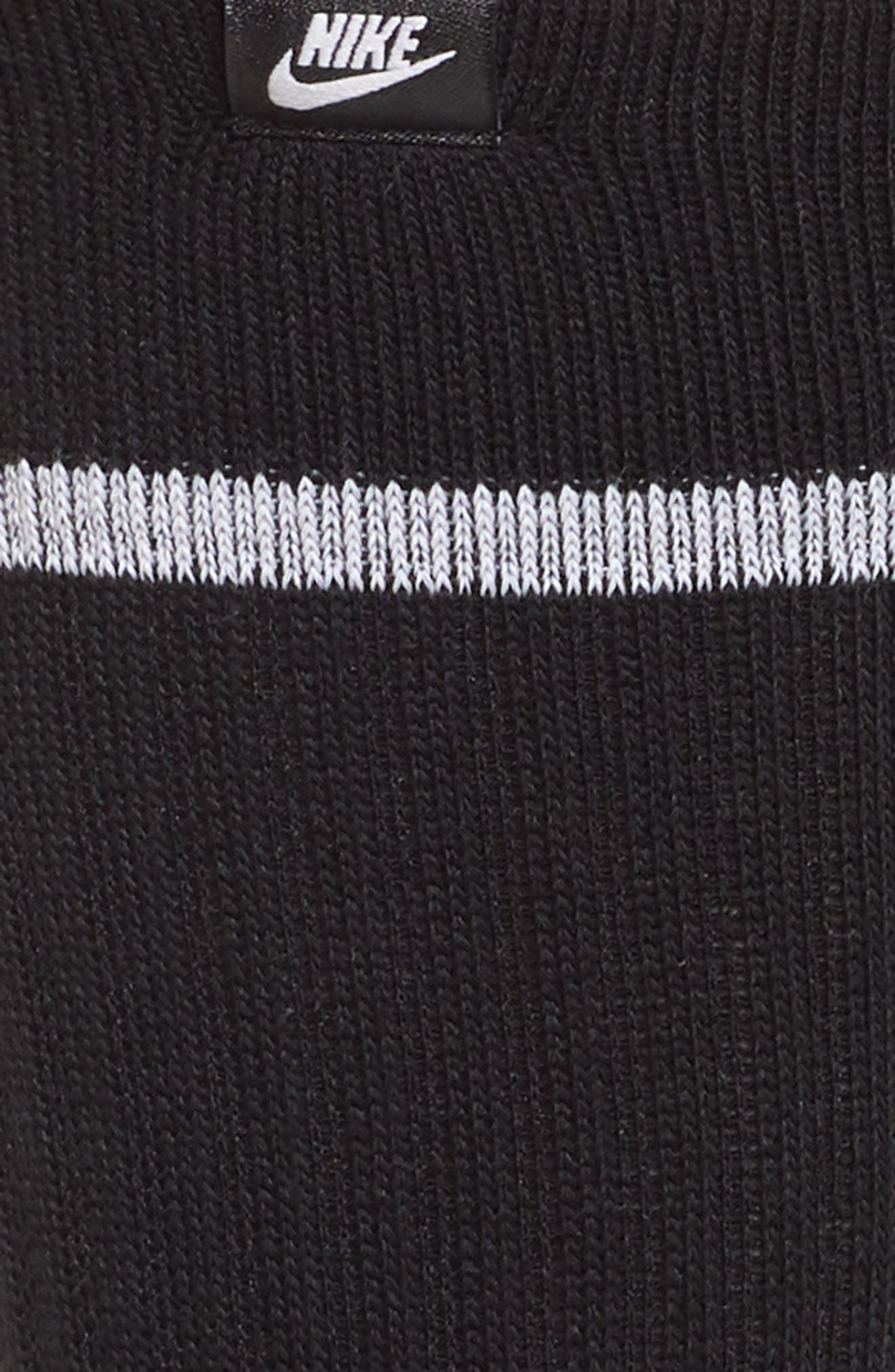 2-Pack SNKR Sox Essential Crew Socks,                             Alternate thumbnail 2, color,                             BLACK/ WHITE/ WHITE
