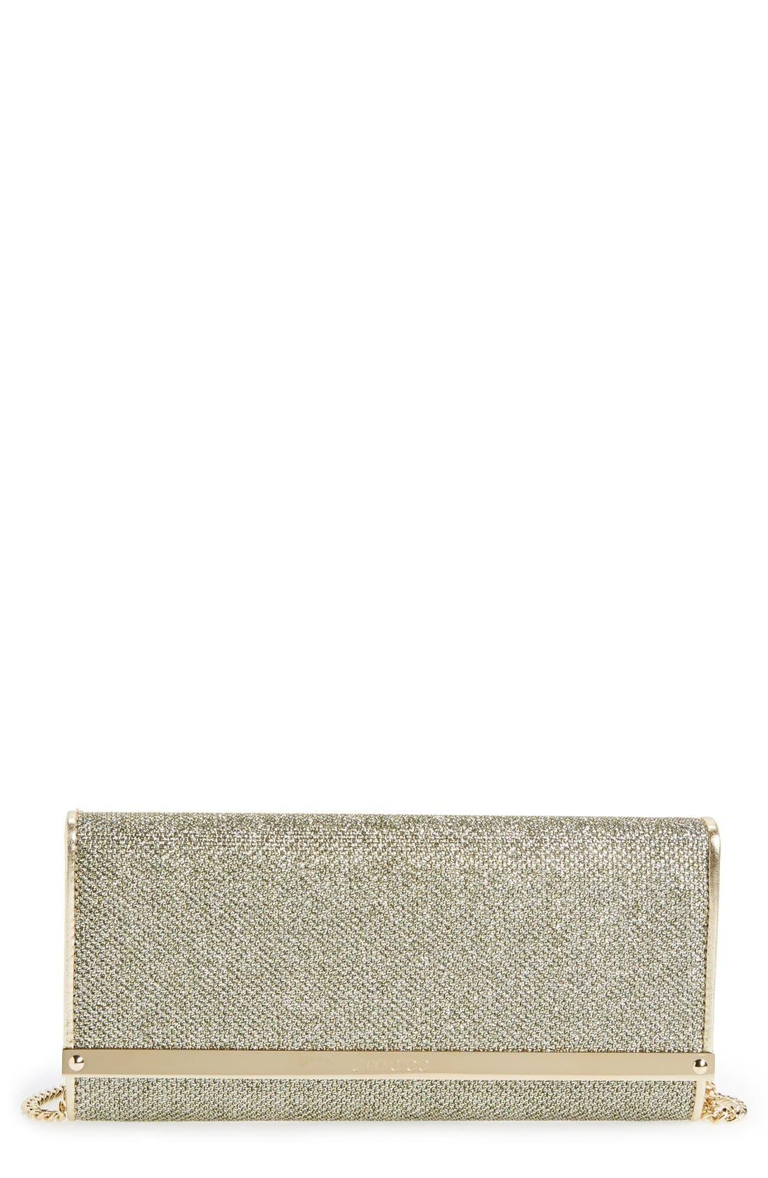 'Milla' Glitter Lamé Wallet on a Chain,                             Main thumbnail 5, color,