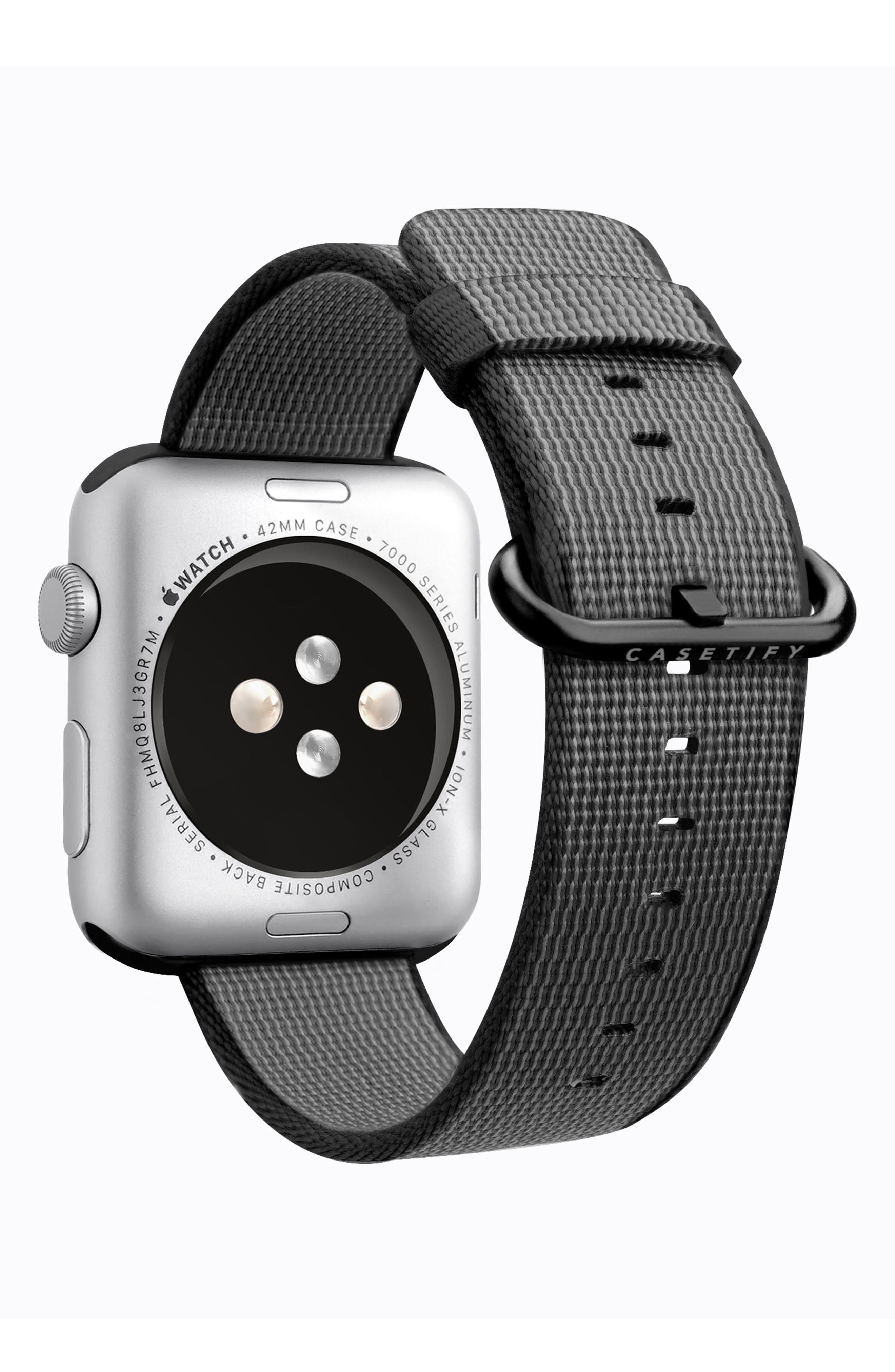 Nylon Apple Watch Strap, 38mm,                             Alternate thumbnail 17, color,