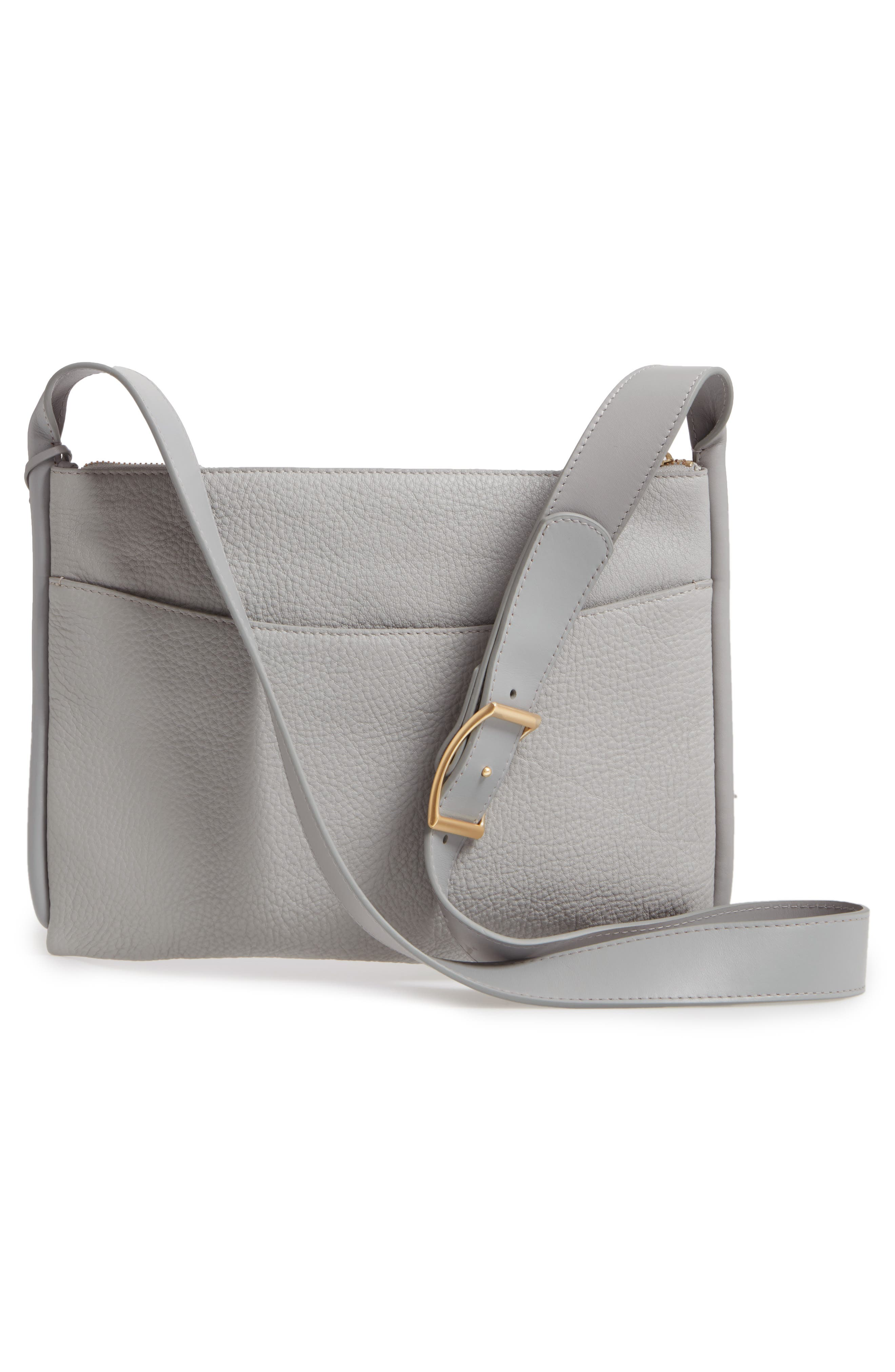 Slim Anesa Leather Crossbody Bag,                             Alternate thumbnail 3, color,                             021