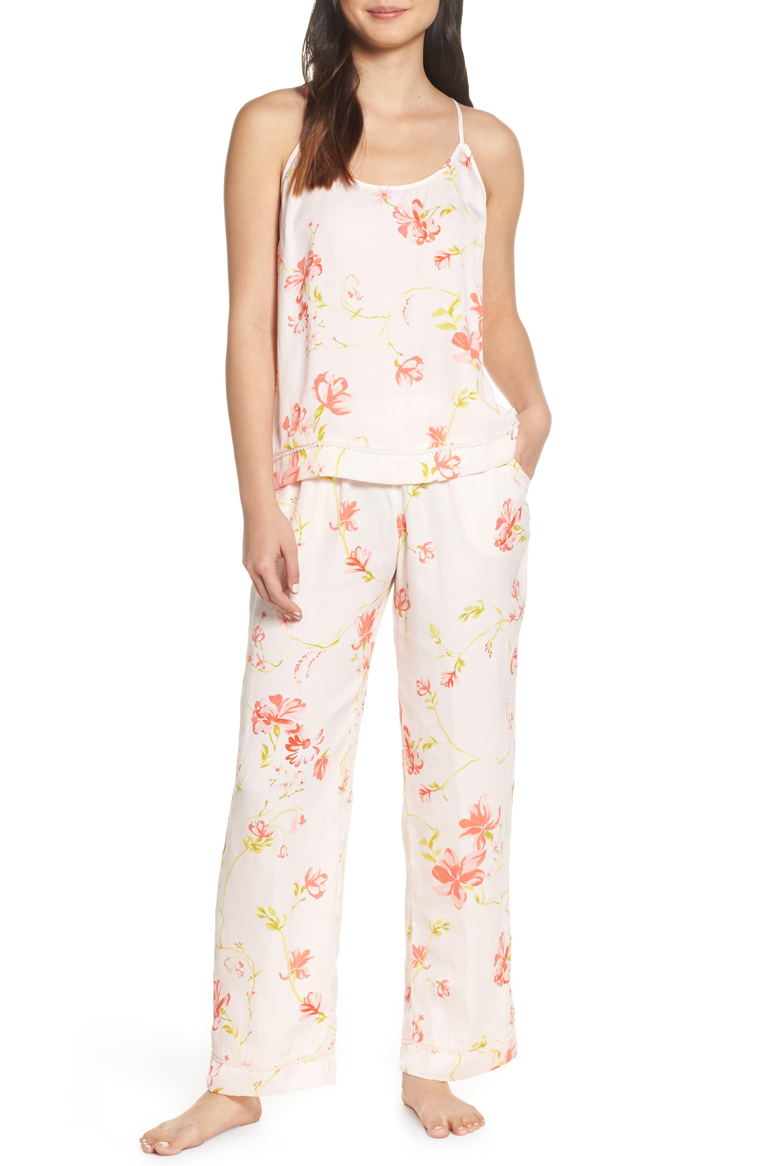 Nordstrom Lingerie Sweet Dreams Satin Pajamas, Pink