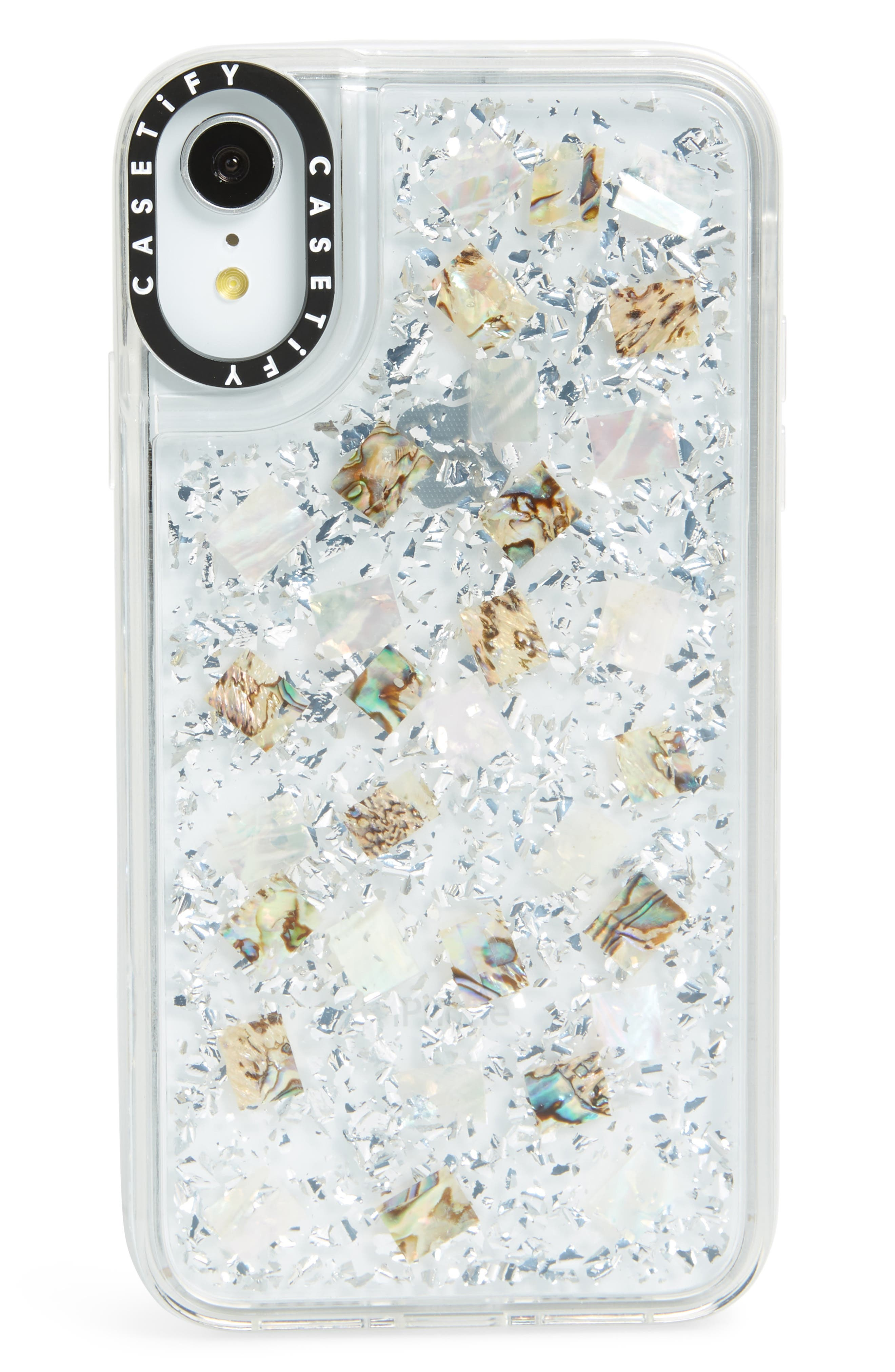 24 Karat Magic iPhone X/Xs, XR & X Max Case,                             Main thumbnail 1, color,                             SILVER/ CLEAR