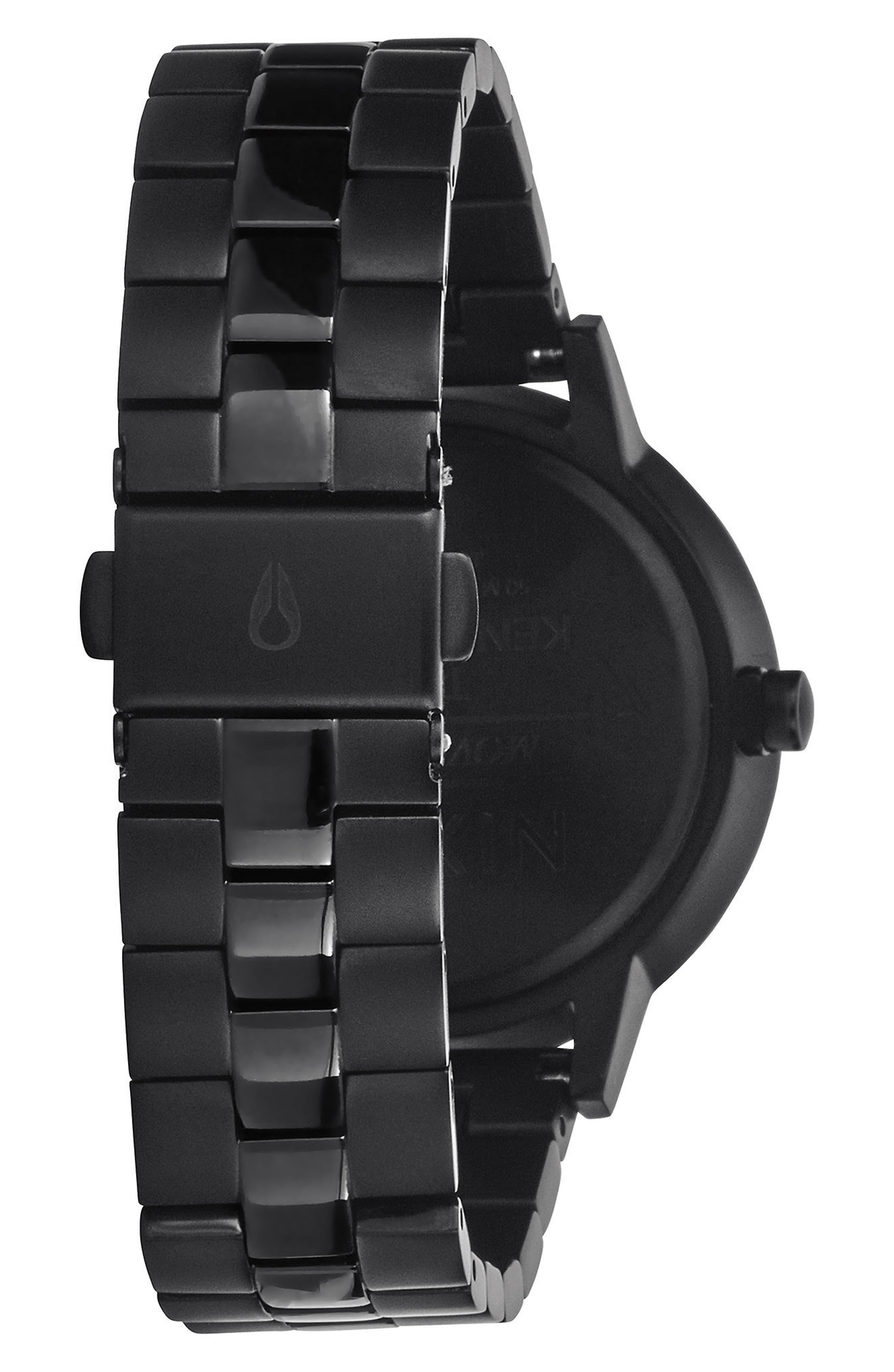 'The Kensington' Bracelet Watch, 37mm,                             Alternate thumbnail 2, color,                             BLACK