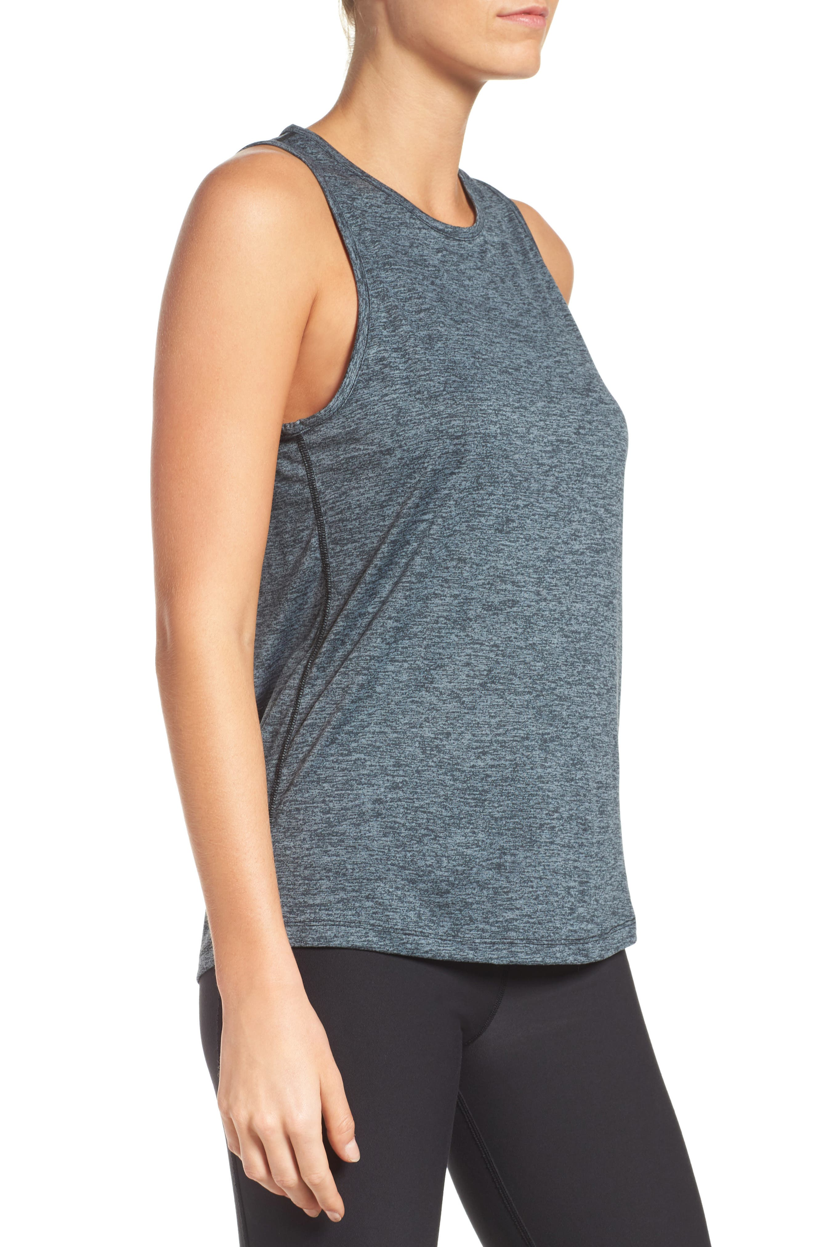 Dry Training Tank,                             Alternate thumbnail 3, color,                             BLACK/ HEATHER/ COOL GREY