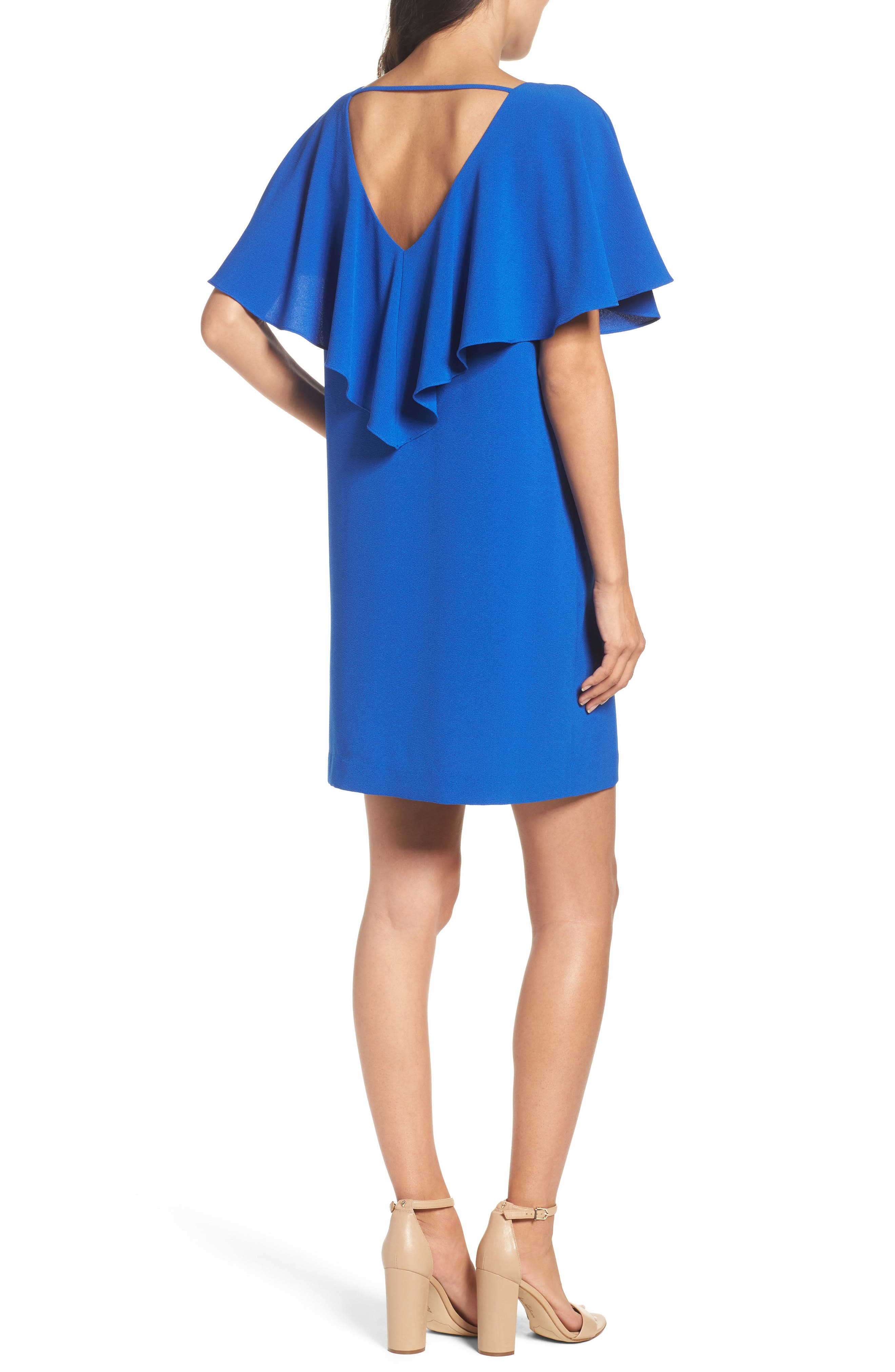 Talia Ruffle Back Shift Dress,                             Alternate thumbnail 2, color,                             425