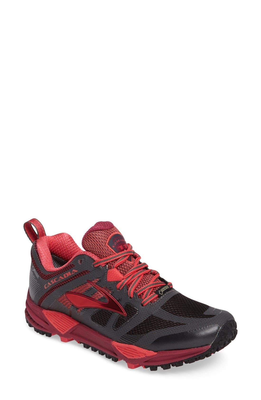 Cascadia 11 GTX Trail Running Shoe,                             Main thumbnail 1, color,                             020