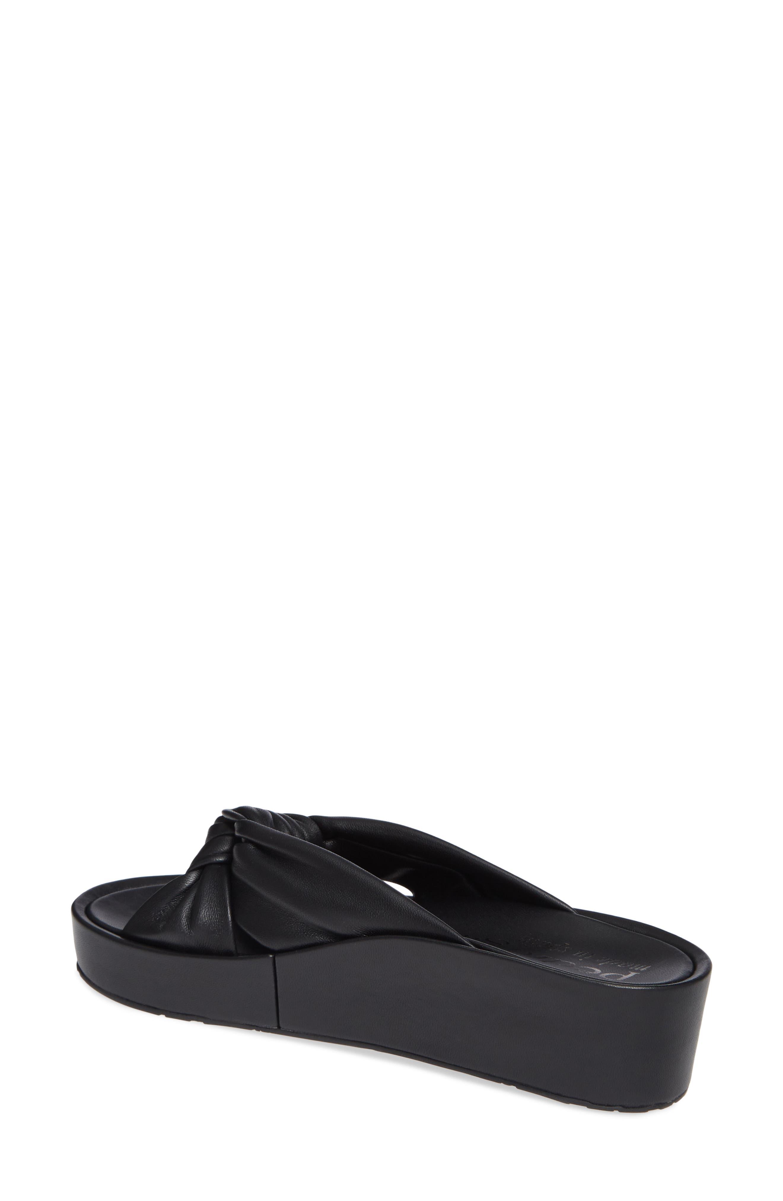 Lany Platform Slide Sandal,                             Alternate thumbnail 2, color,                             BLACK LEATHER