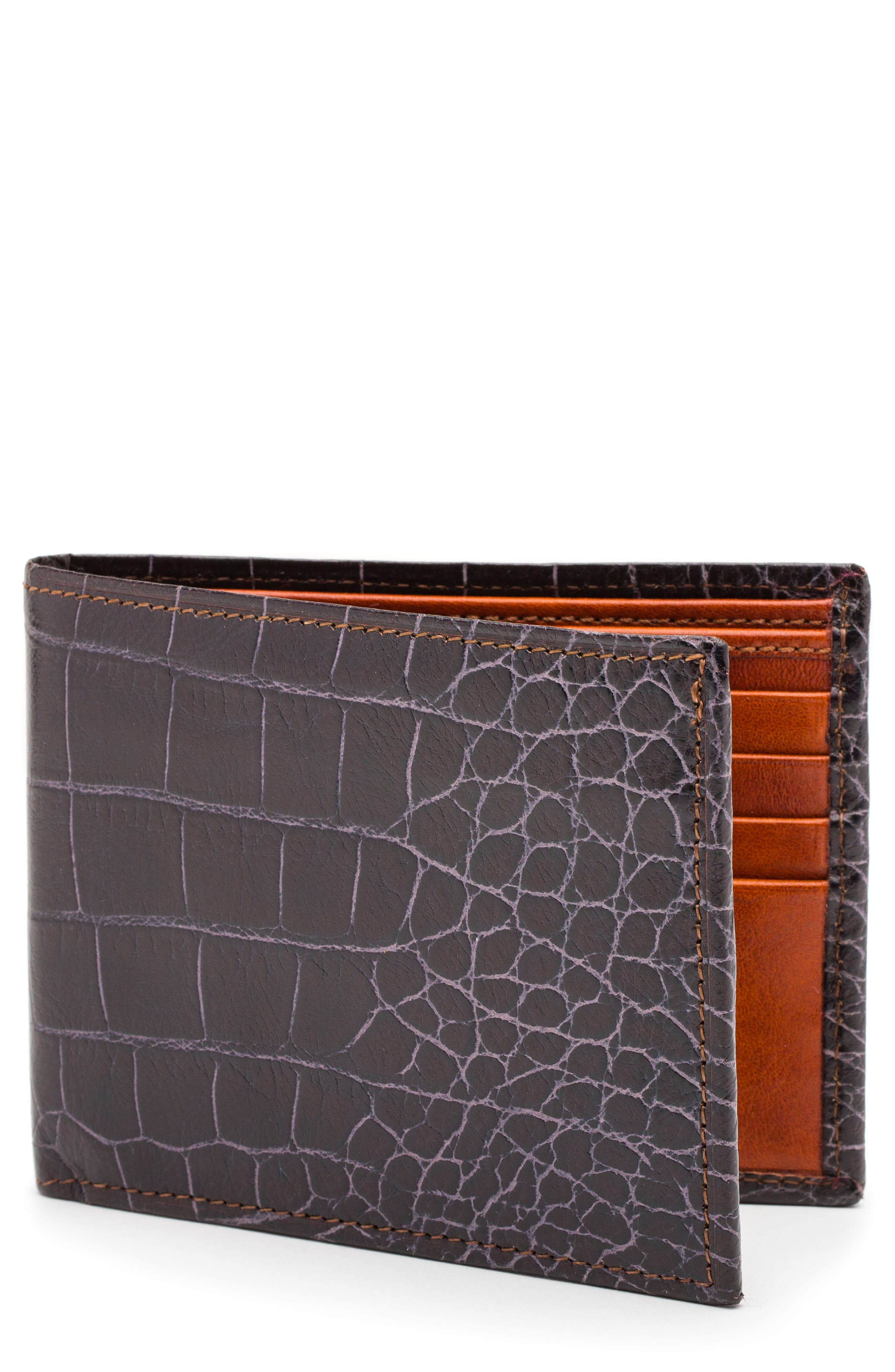 Embossed Bifold Wallet,                             Main thumbnail 1, color,