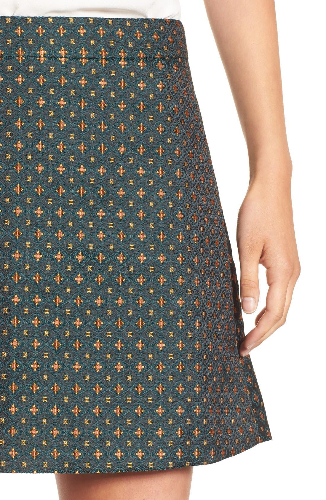 Jacquard A-Line Skirt,                             Alternate thumbnail 3, color,                             310