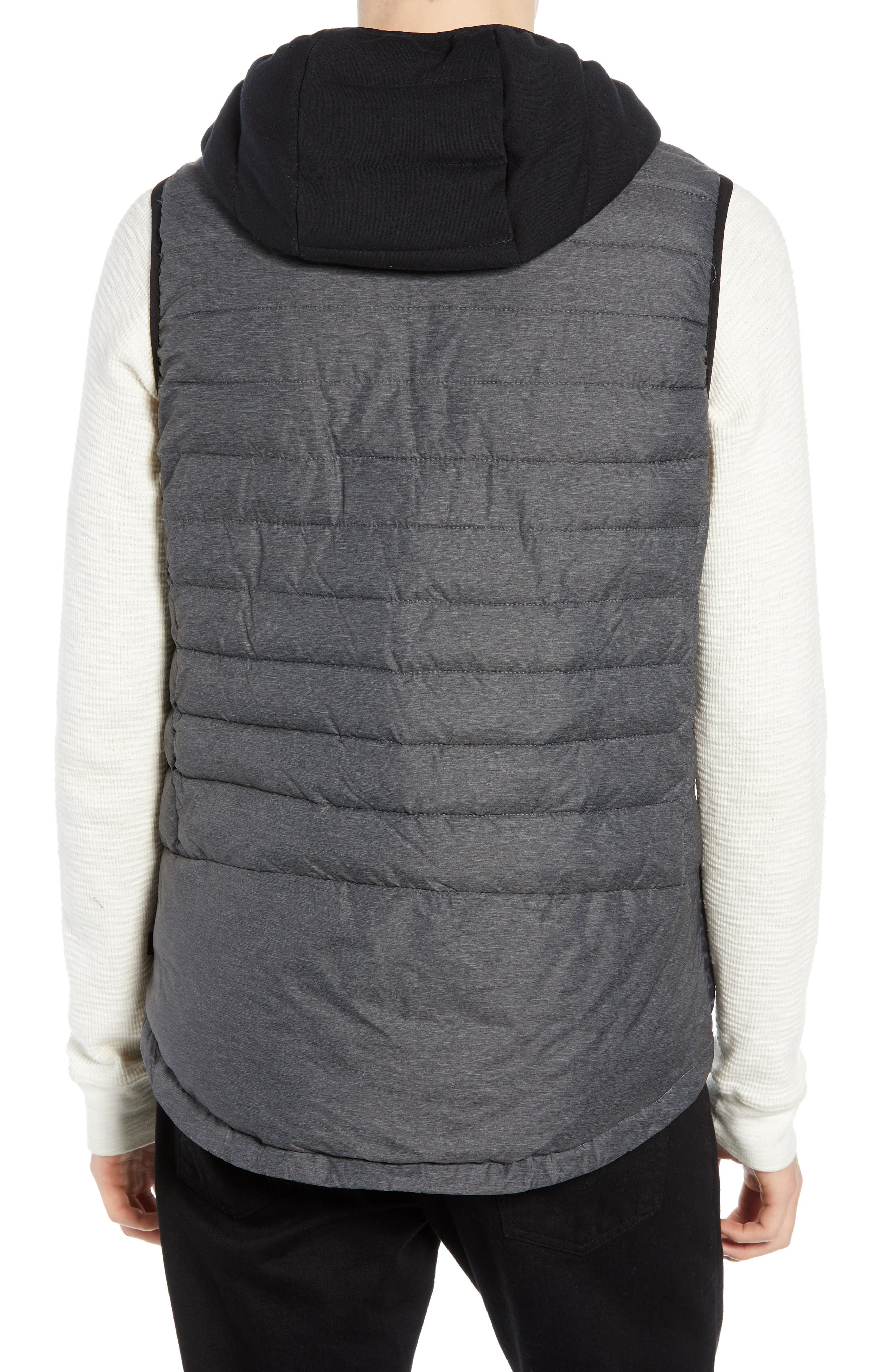 Quilted Hooded Vest,                             Alternate thumbnail 2, color,                             030