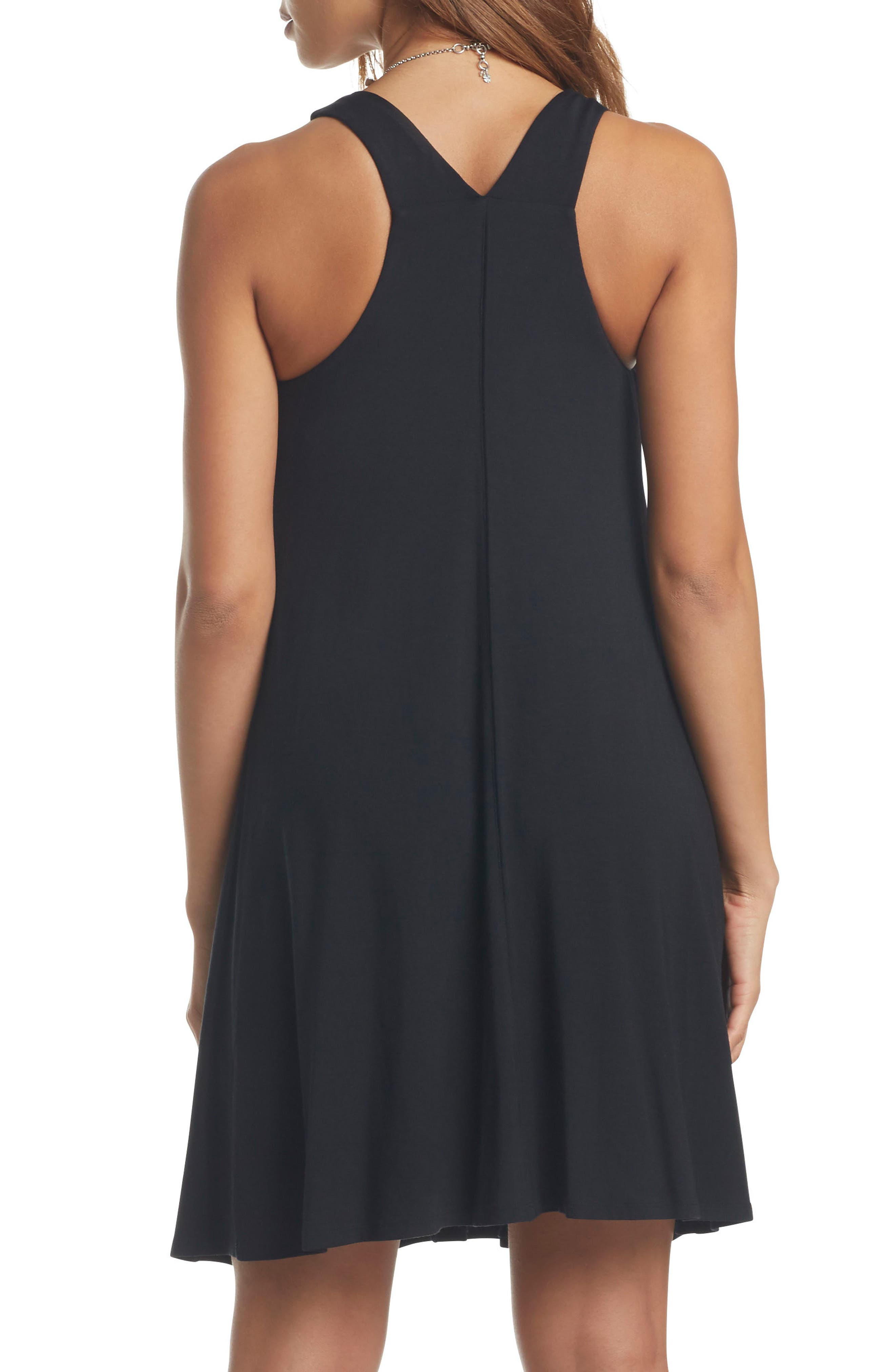 Lyndin Maternity Dress,                             Alternate thumbnail 2, color,                             BLACK