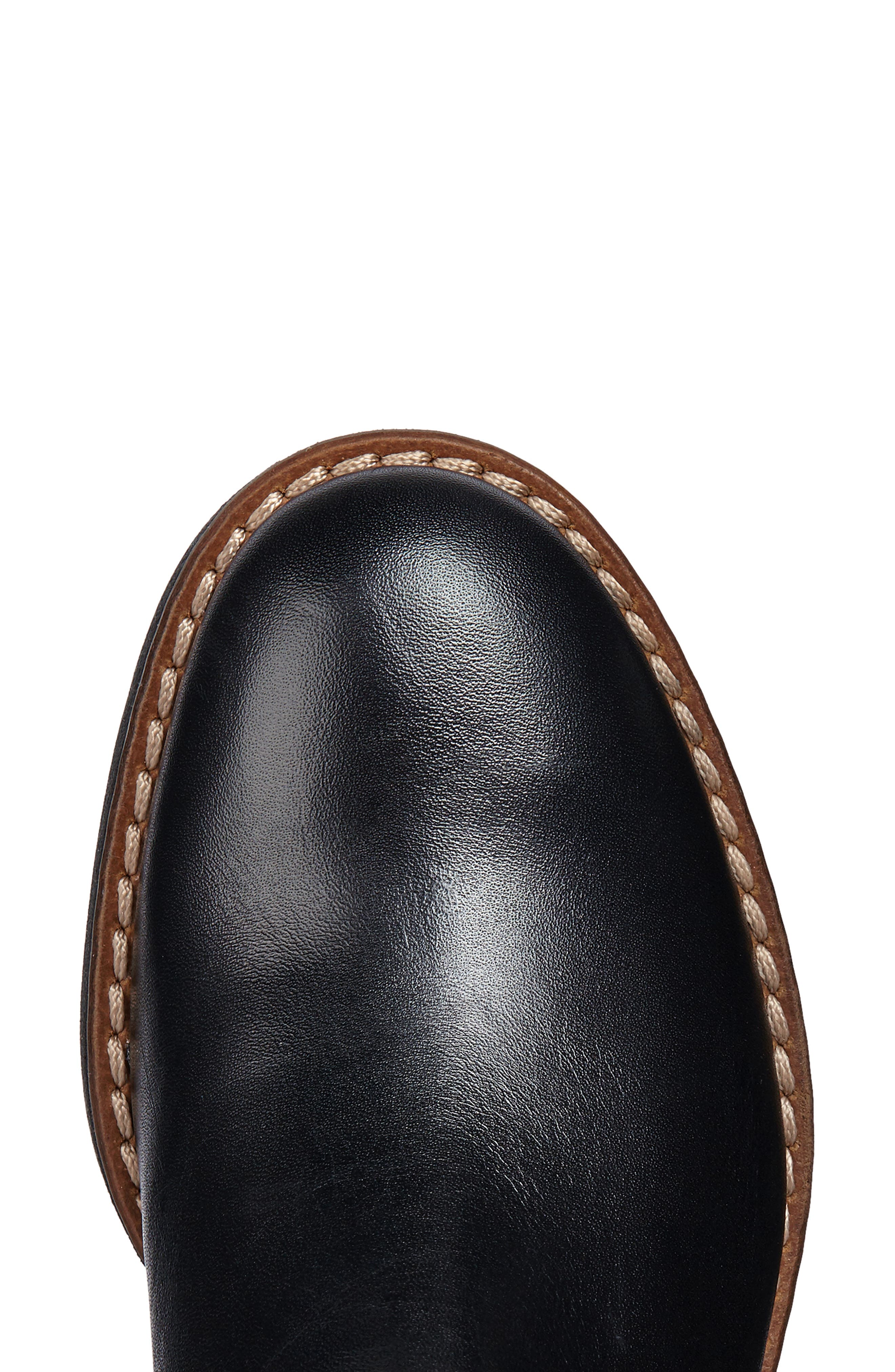 Adrya Knee High Boot,                             Alternate thumbnail 6, color,                             BLACK LEATHER