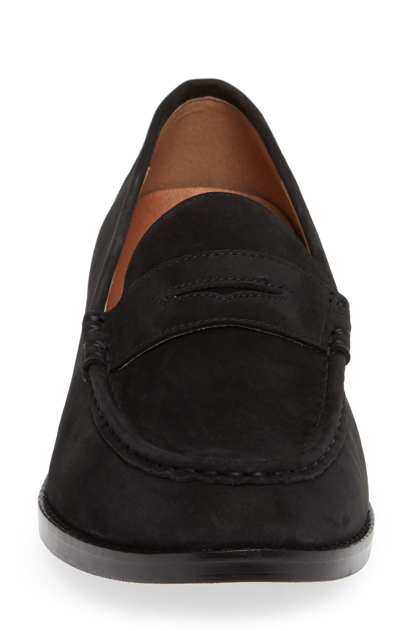 Waverly Loafer,                             Alternate thumbnail 4, color,                             BLACK LEATHER