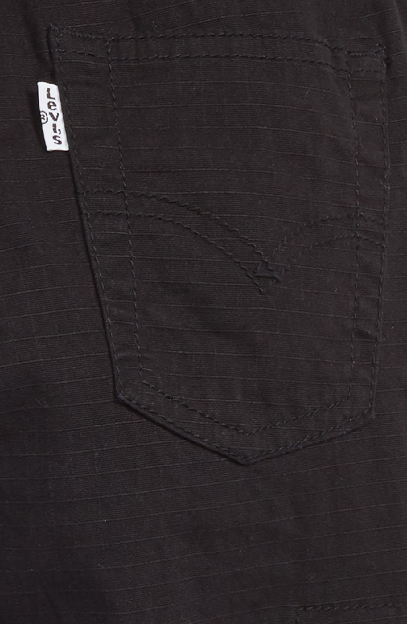 Tapered Stretch Cargo Pants,                             Alternate thumbnail 3, color,                             ONYX