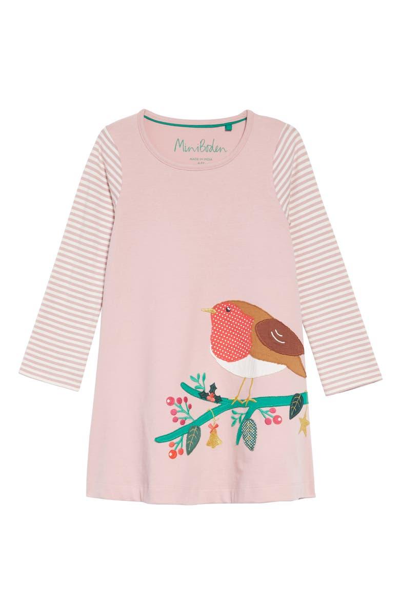 2188f0681e12 Mini Boden Festive Big Appliqué Dress (Toddler Girls