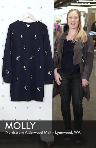 Embroidered Sweatshirt Dress, sales video thumbnail