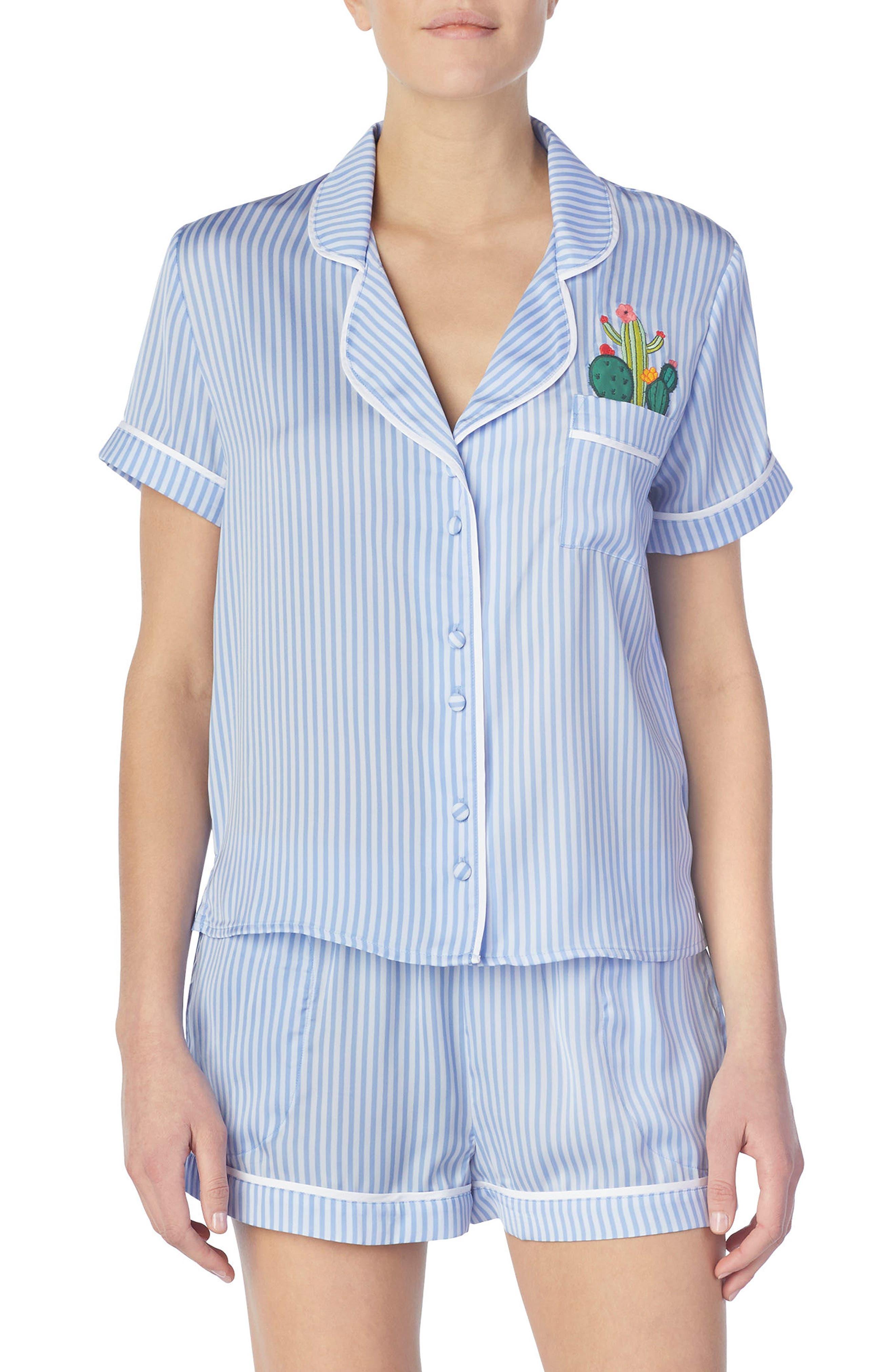 Short Satin Pajamas,                             Main thumbnail 2, color,
