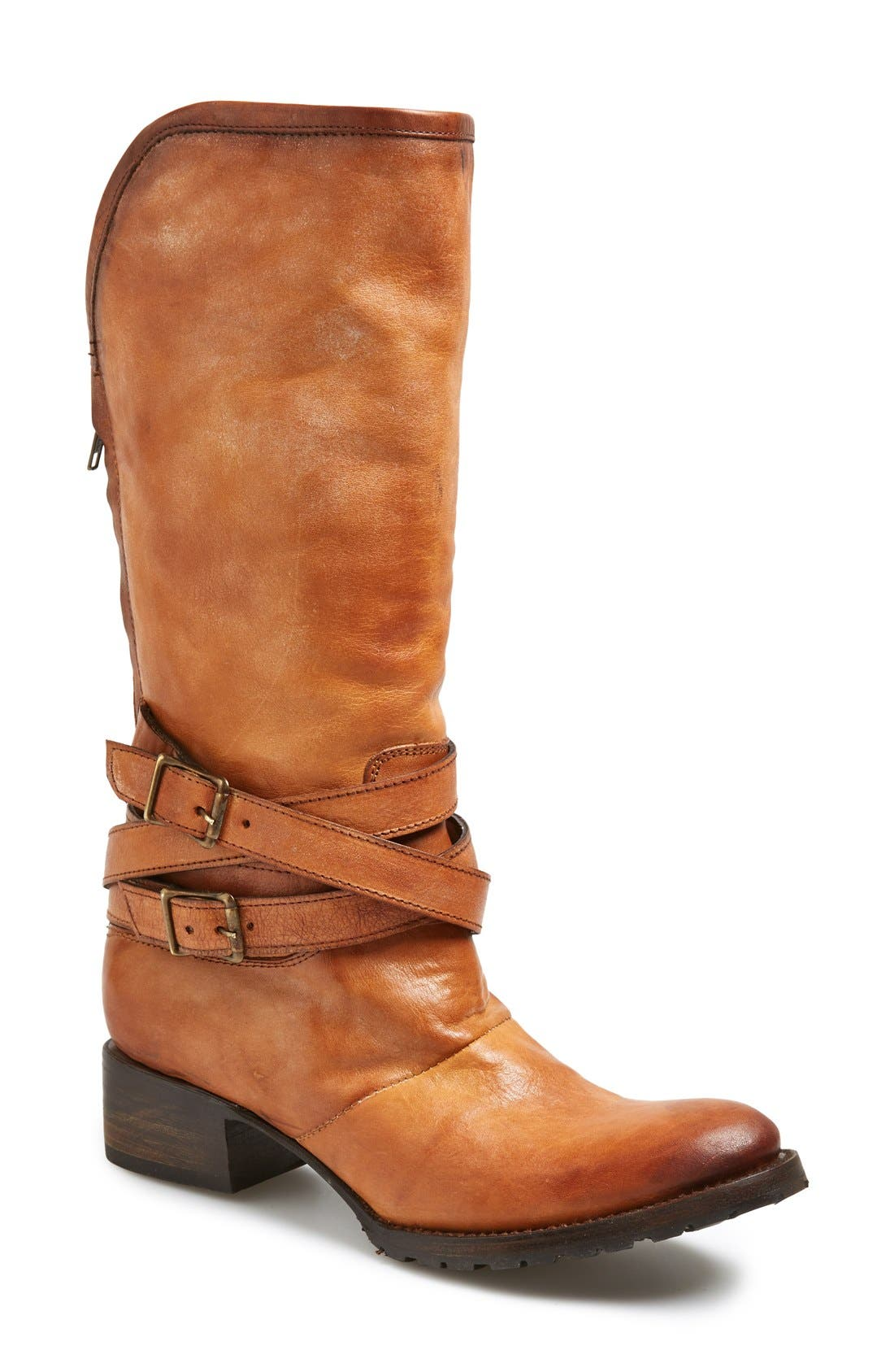FREEBIRD BY STEVEN,                             'Dillon' Leather Tall Boot,                             Main thumbnail 1, color,                             200