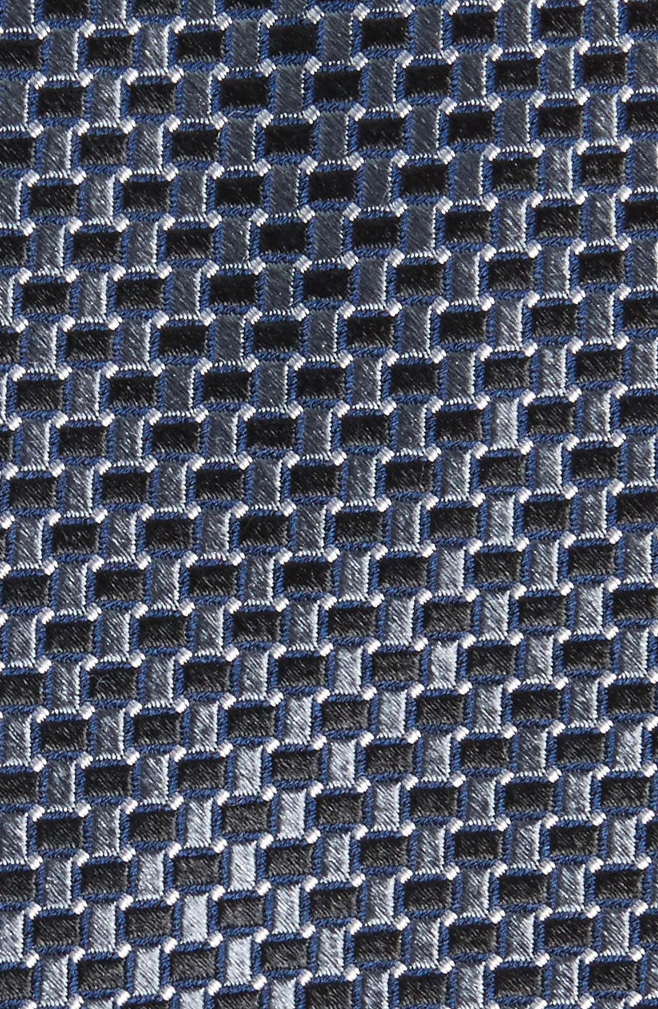 Basketweave Silk Tie,                             Alternate thumbnail 2, color,                             001