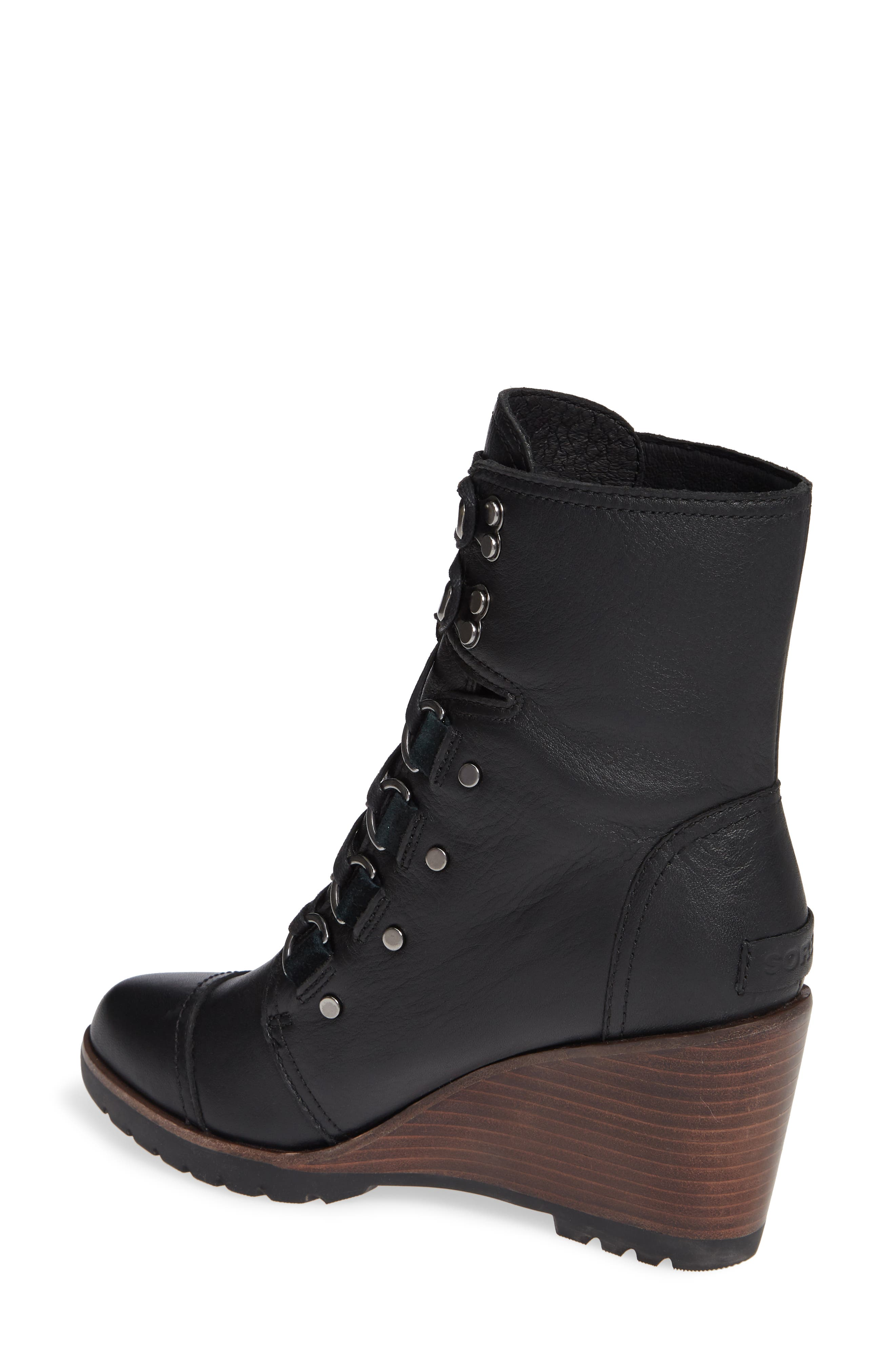After Hours Lace-Up Waterproof Boot,                             Alternate thumbnail 2, color,                             010