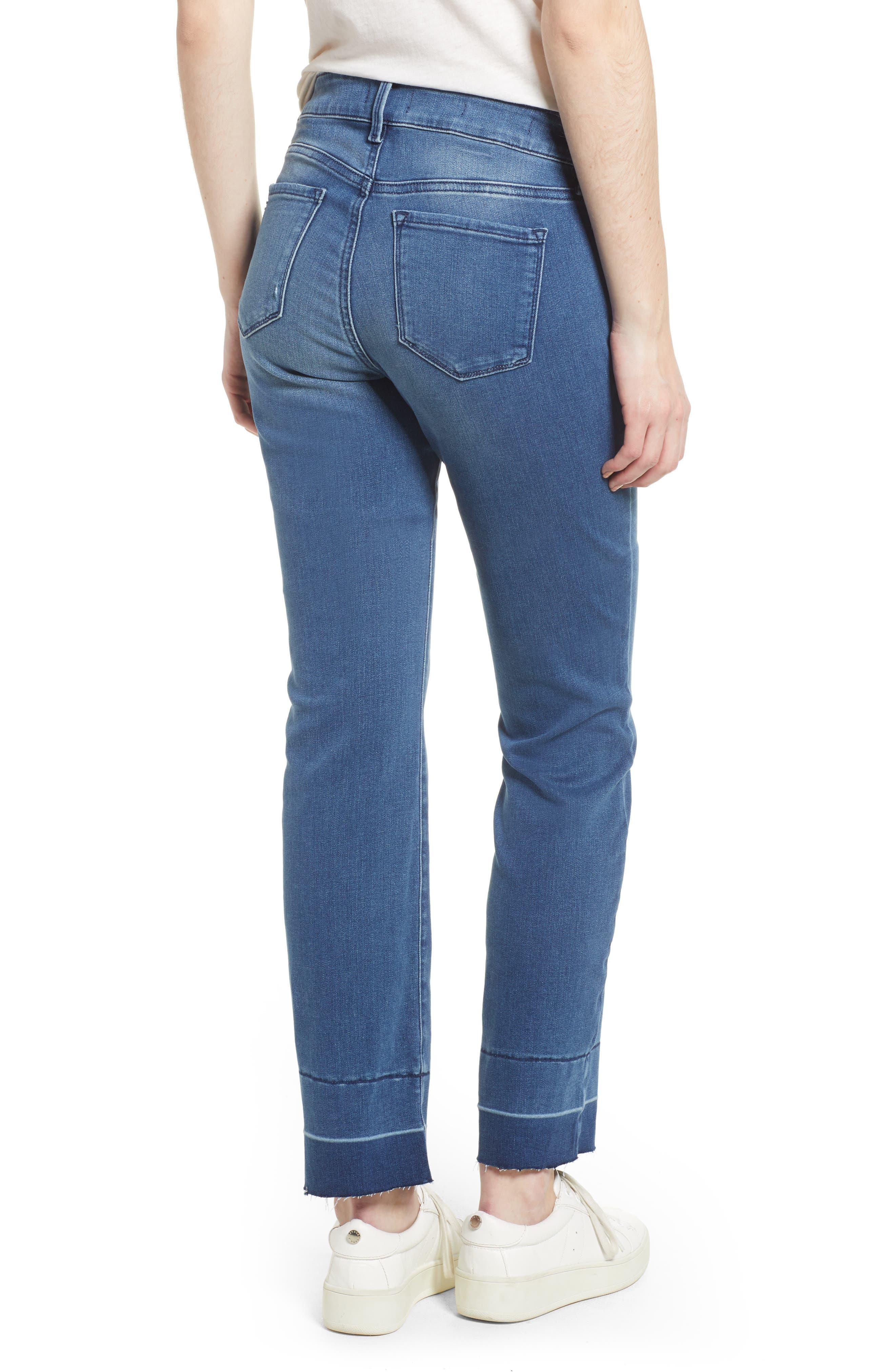 Marilyn Release Hem Stretch Straight Leg Jeans,                             Alternate thumbnail 2, color,                             410