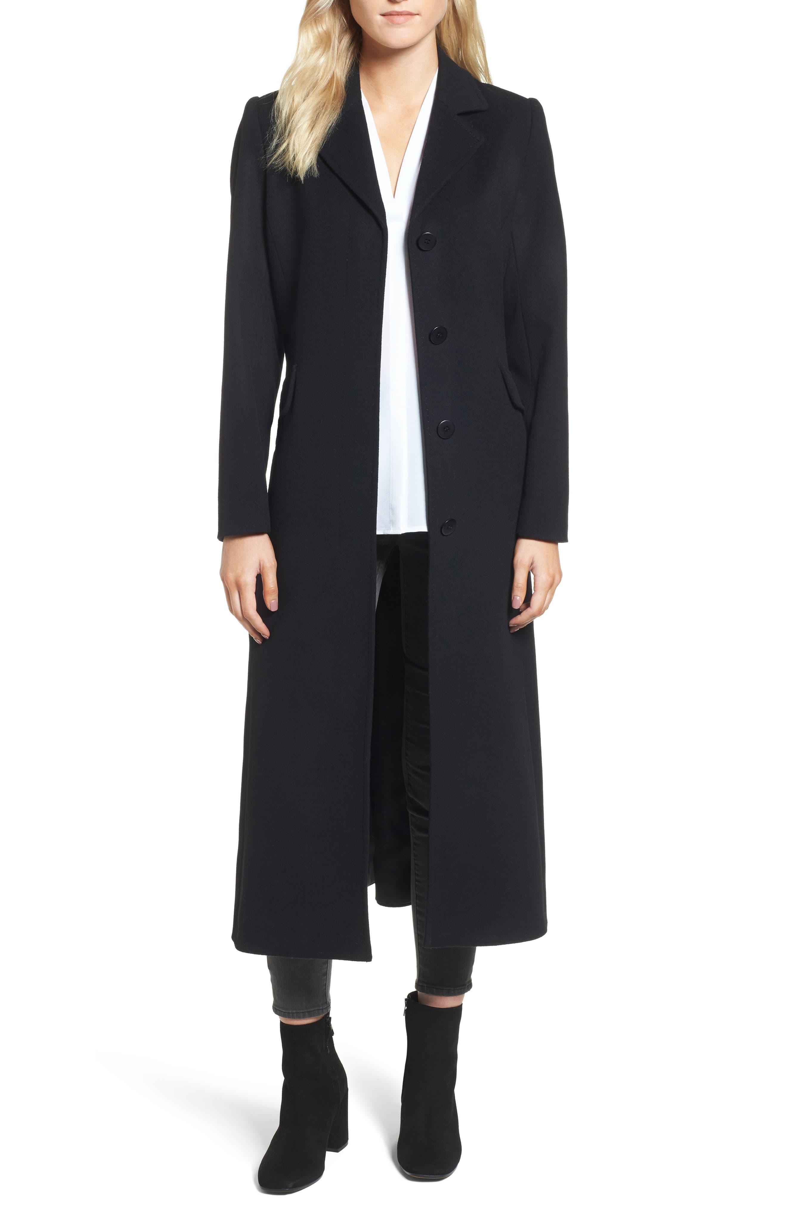 Emi Wool Blend Coat,                             Main thumbnail 1, color,                             001