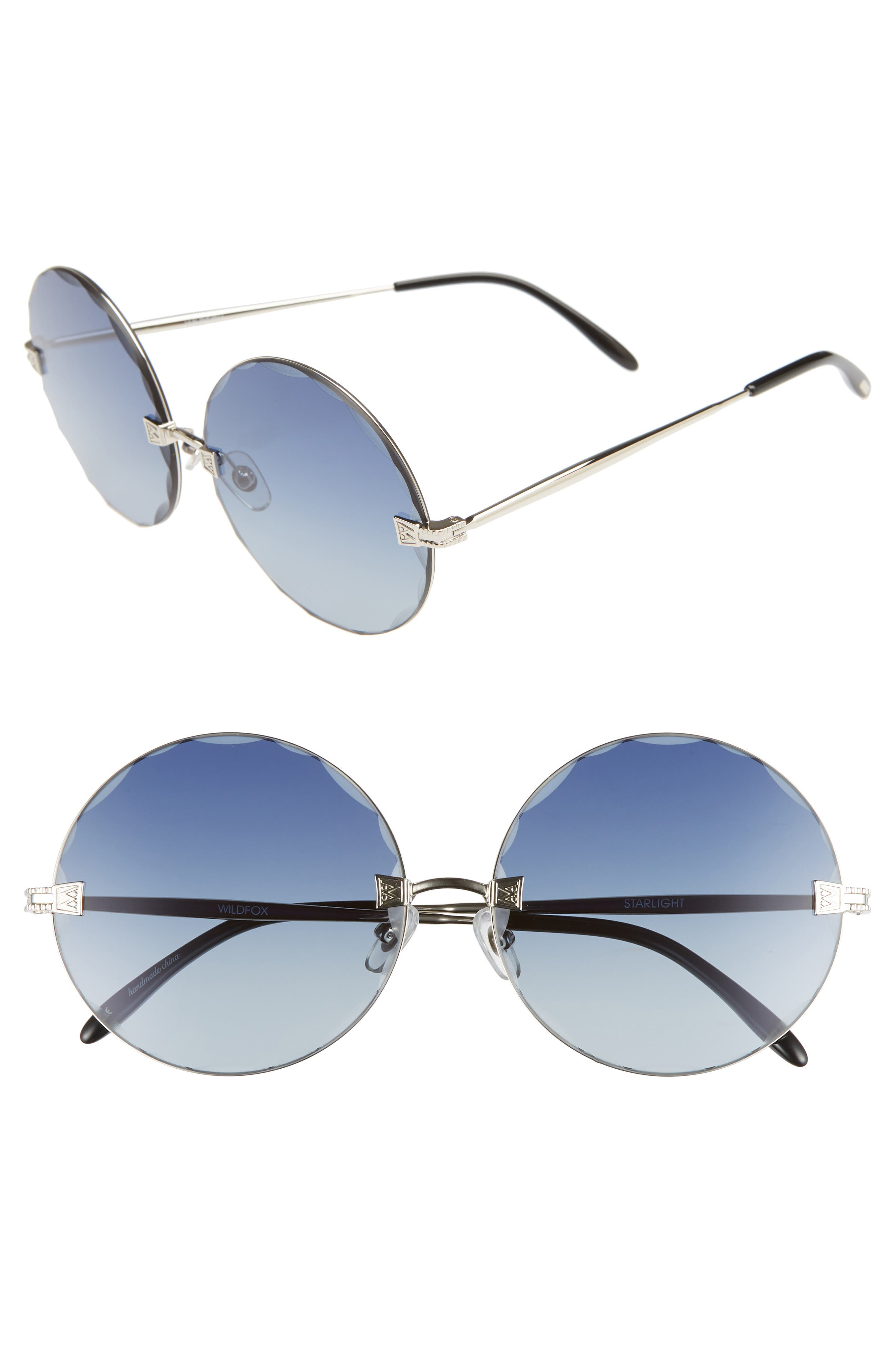 Starlight 62mm Oversize Round Sunglasses,                             Main thumbnail 1, color,                             040