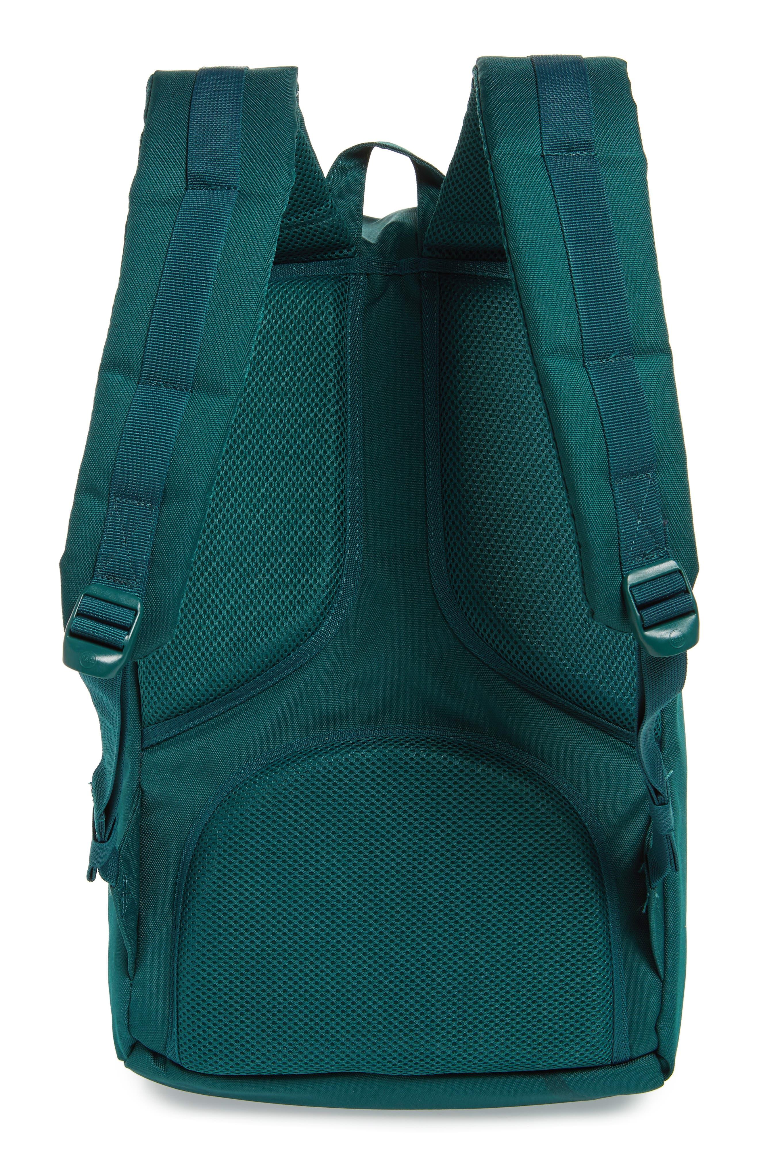 Little America Backpack,                             Alternate thumbnail 3, color,                             DEEP TEAL/ TAN