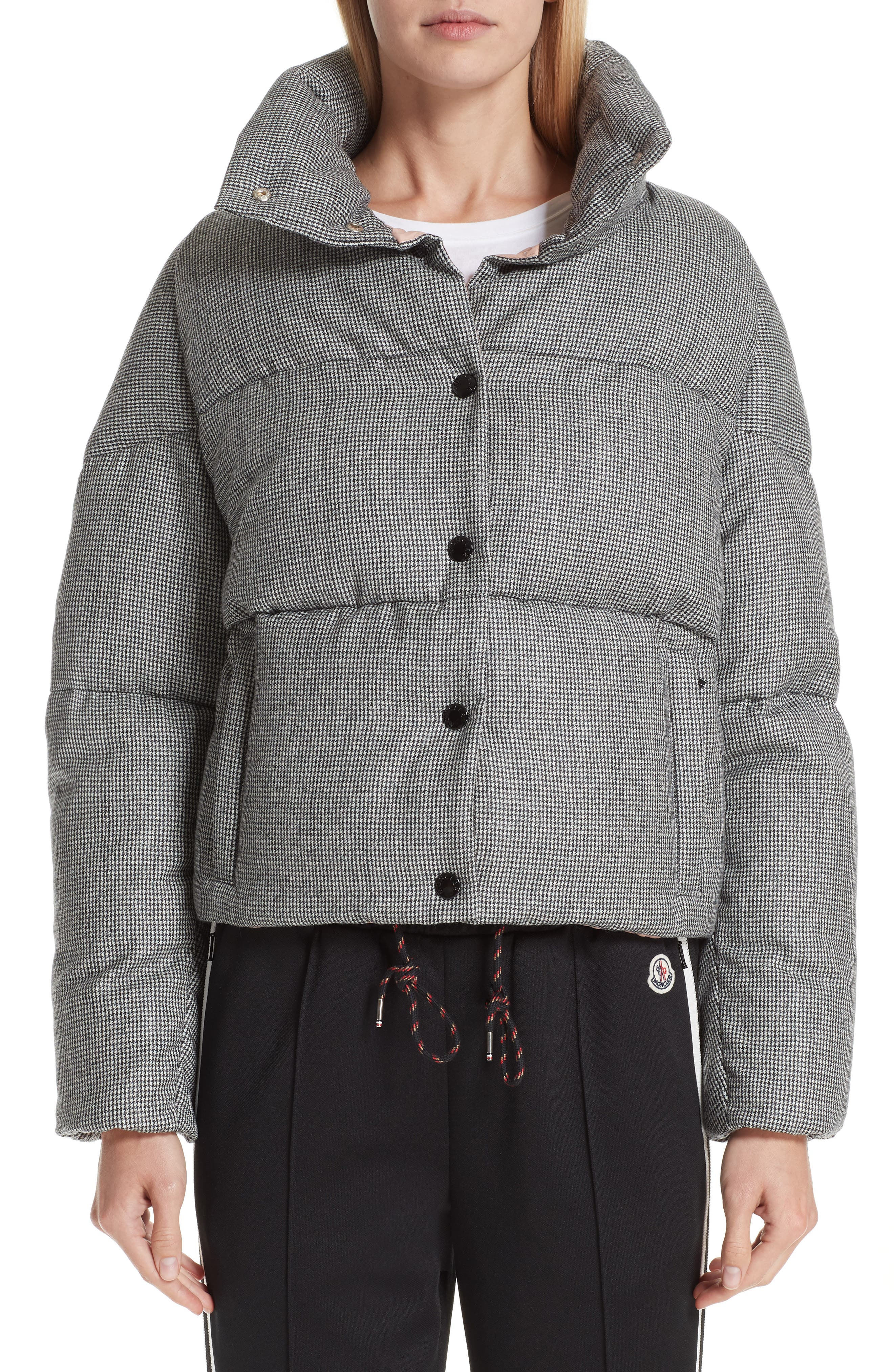 MONCLER Cer Wool Down Puffer Jacket, Main, color, BLACK