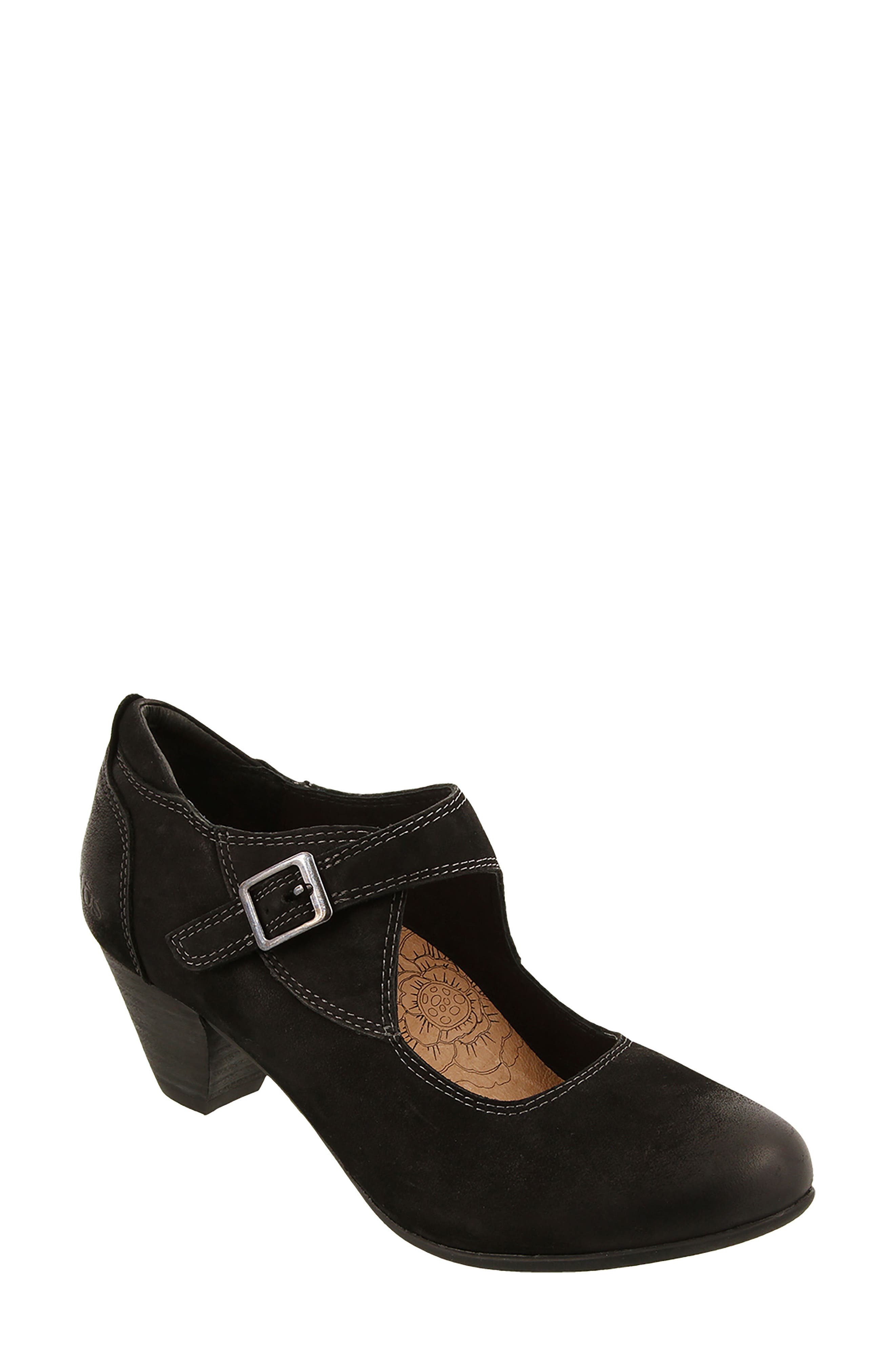 Studio Mary Jane Pump,                         Main,                         color, BLACK OILED LEATHER