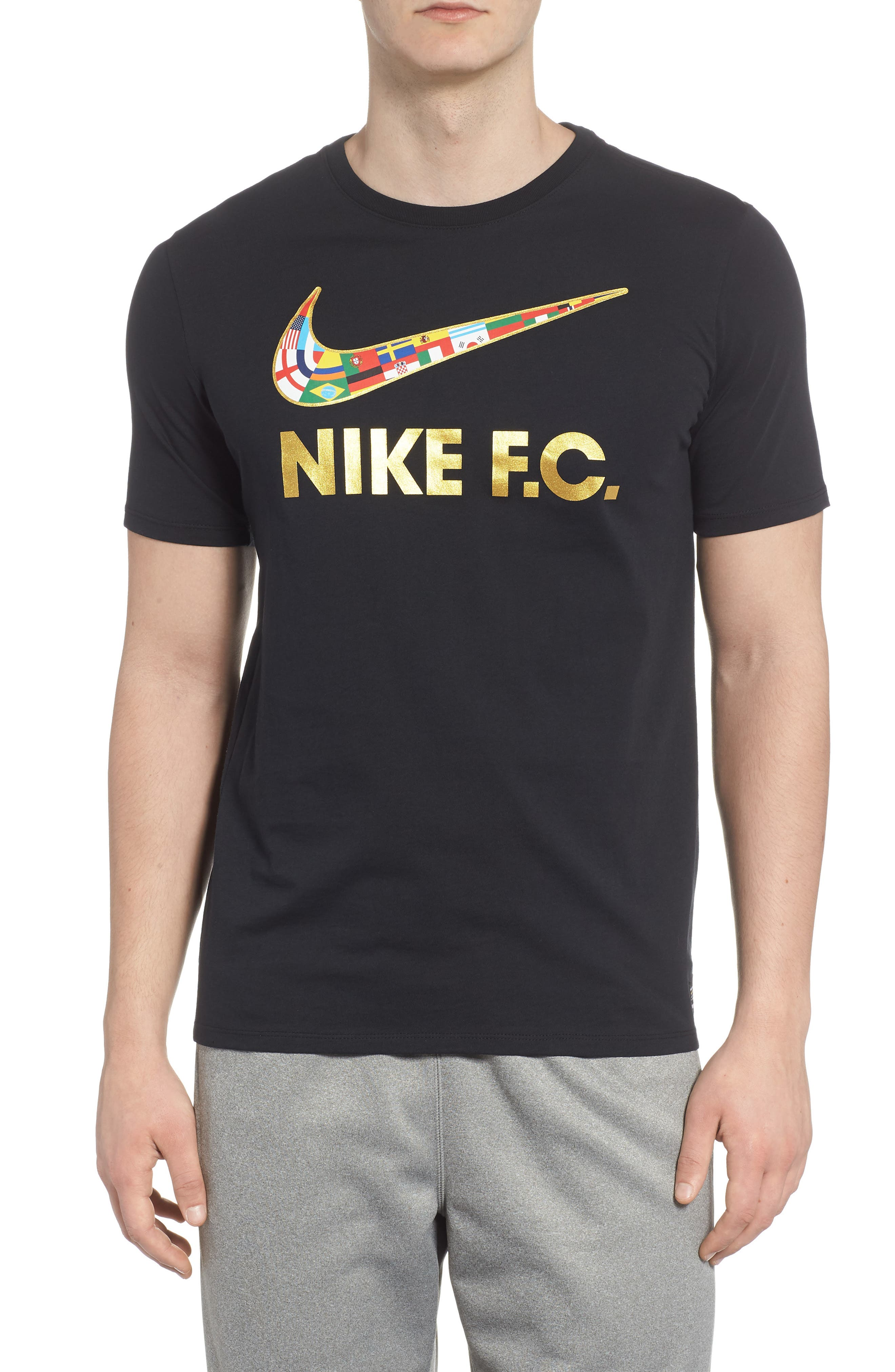 F.C. Swoosh Flag Graphic T-Shirt,                         Main,                         color, 010