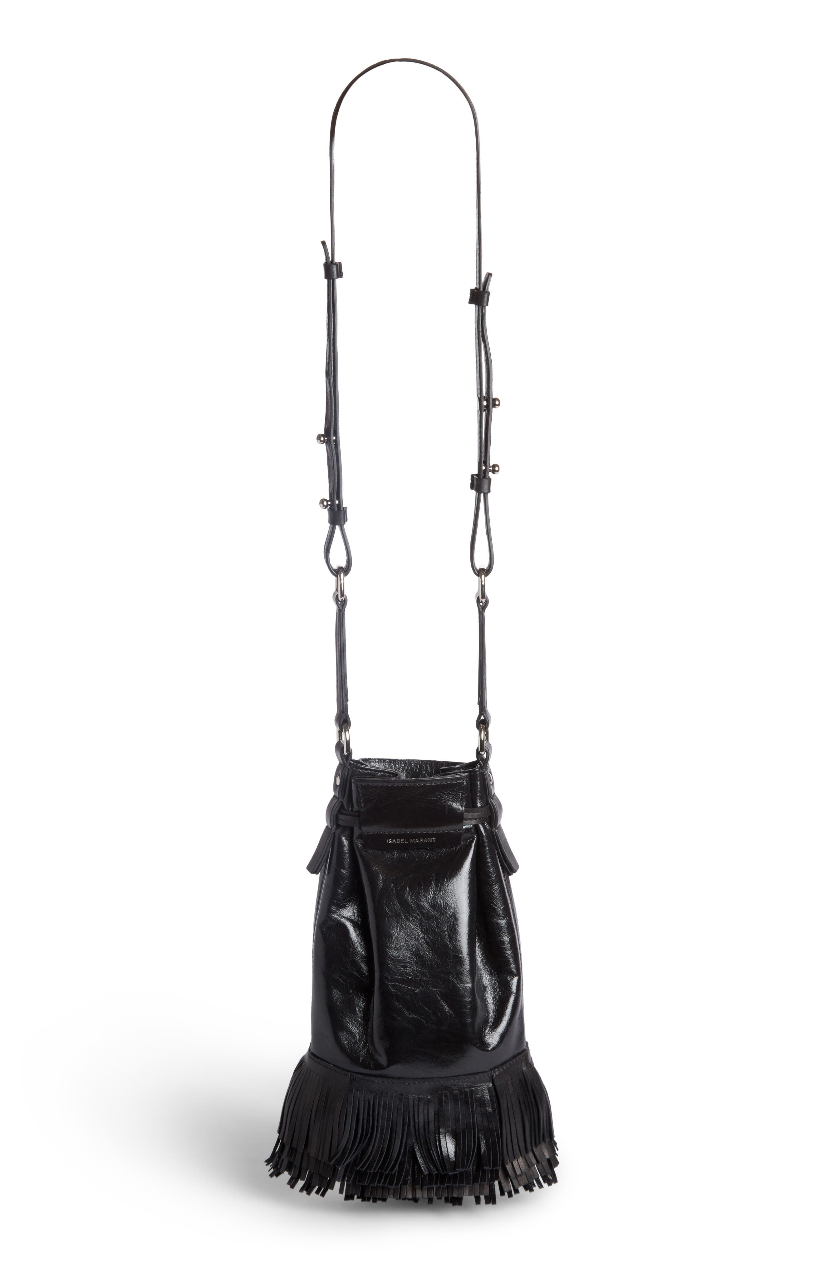 Askiah Fringe Leather Crossbody Bag,                             Alternate thumbnail 2, color,