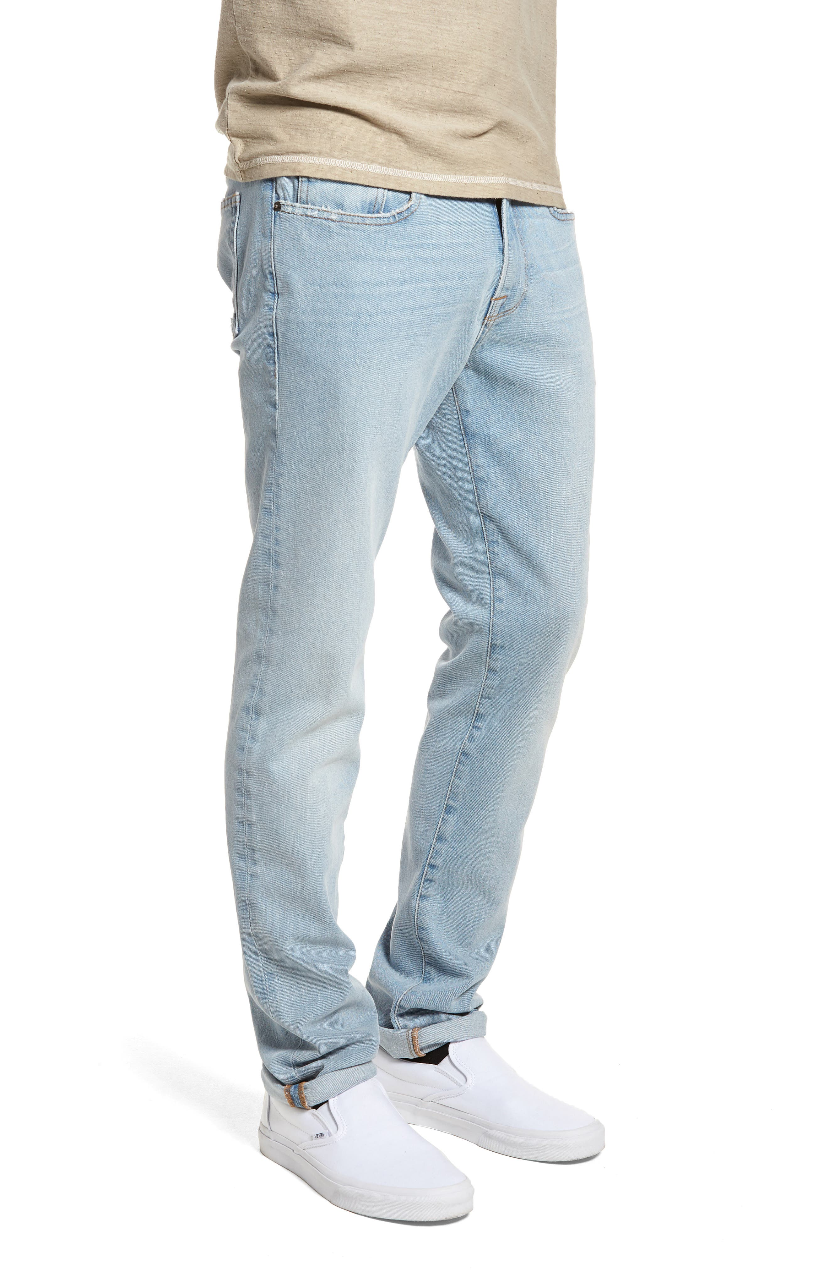 L'Homme Skinny Fit Jeans,                             Alternate thumbnail 3, color,                             450