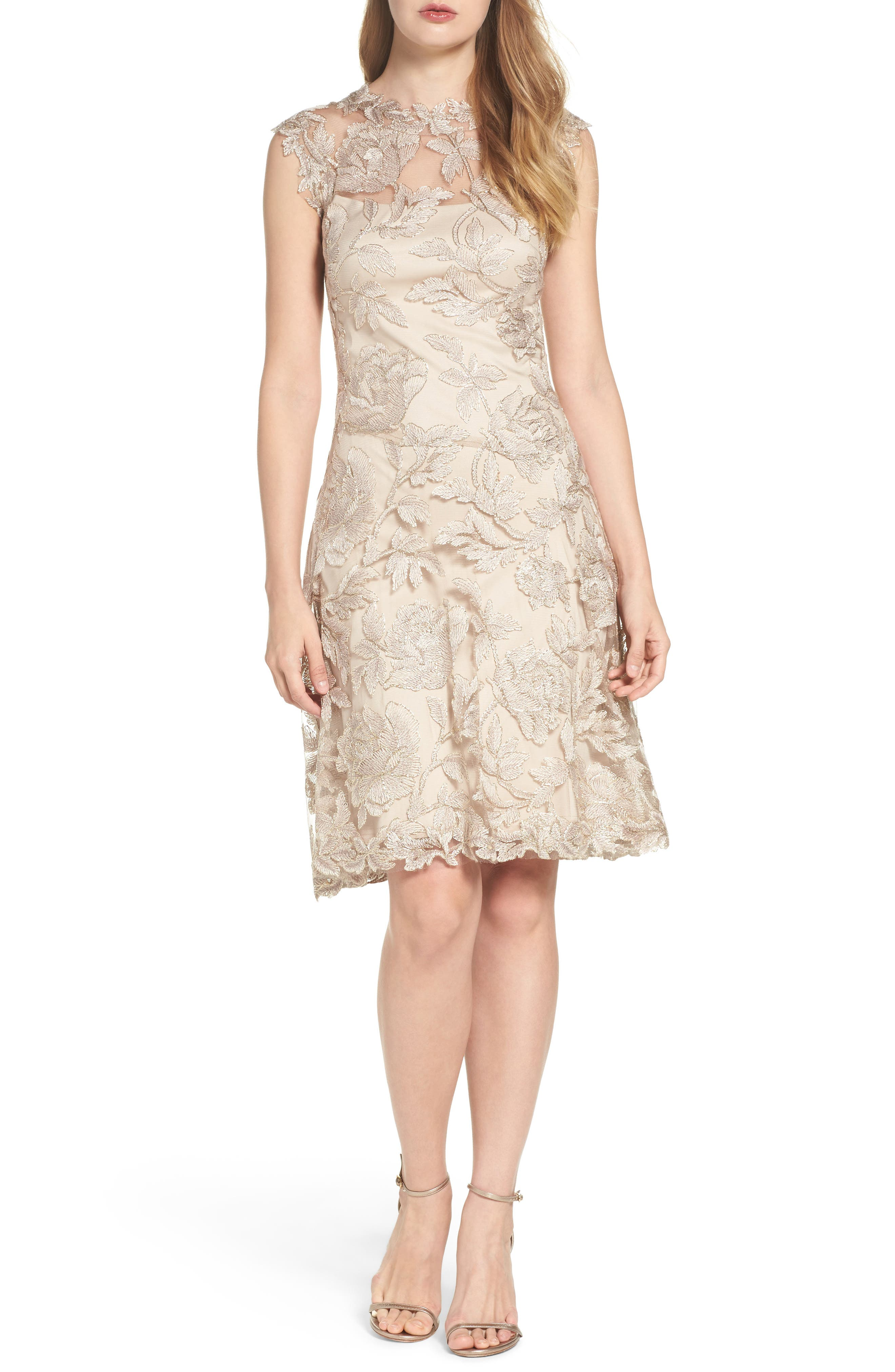 Noelle Floral Fit & Flare Dress,                             Alternate thumbnail 20, color,