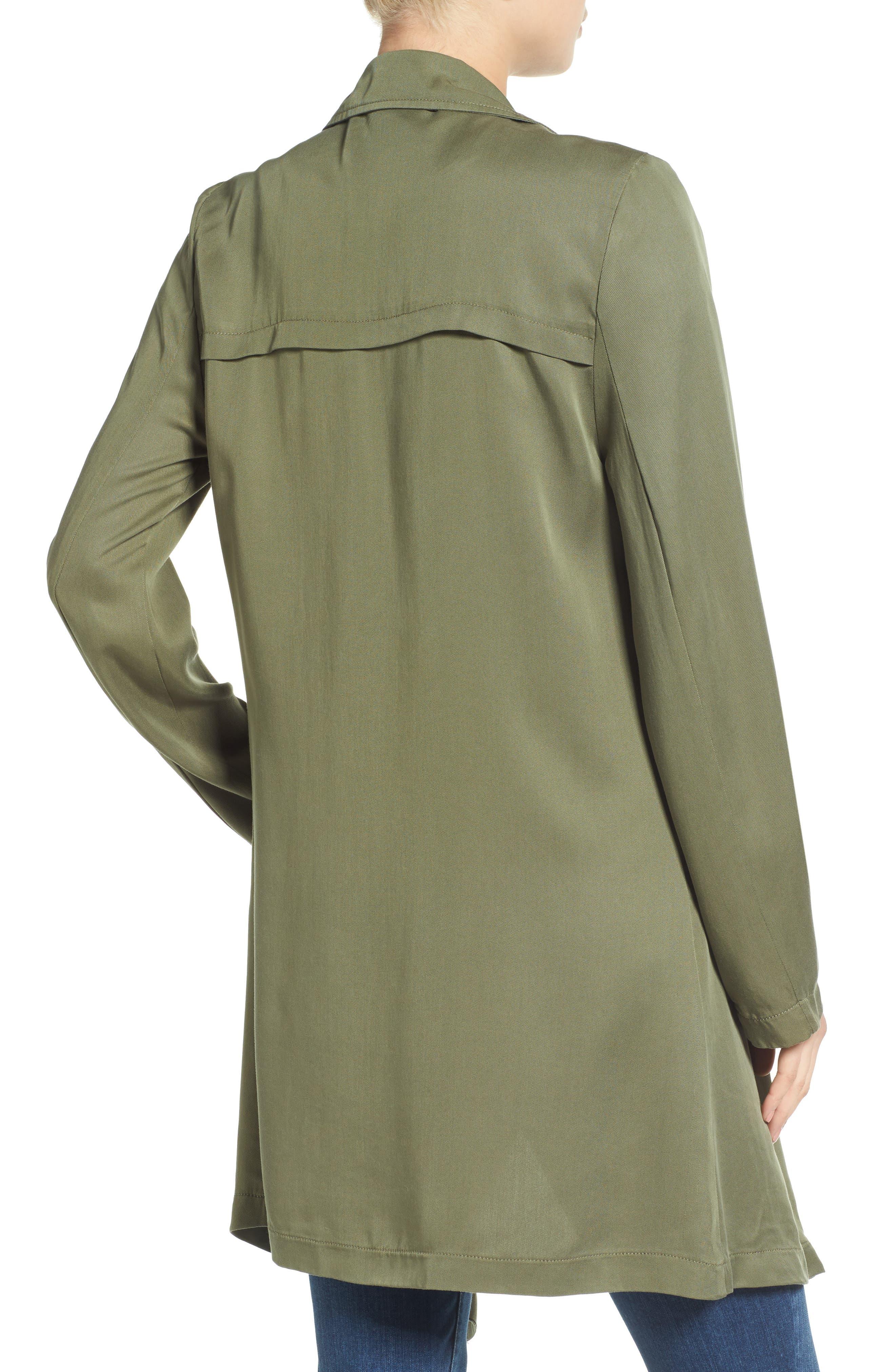 Drape Front Trench Coat,                             Alternate thumbnail 2, color,                             300