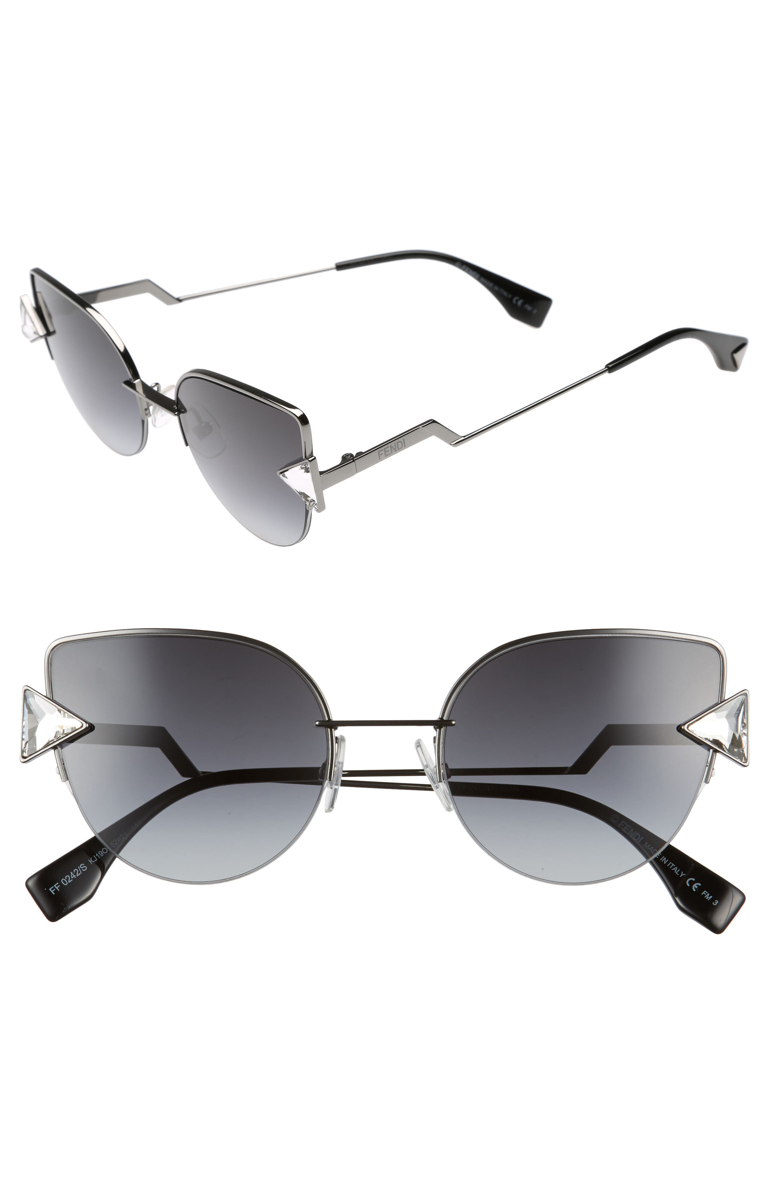 Rainbow 52mm Semi-Rimless Sunglasses,                             Main thumbnail 1, color,                             040