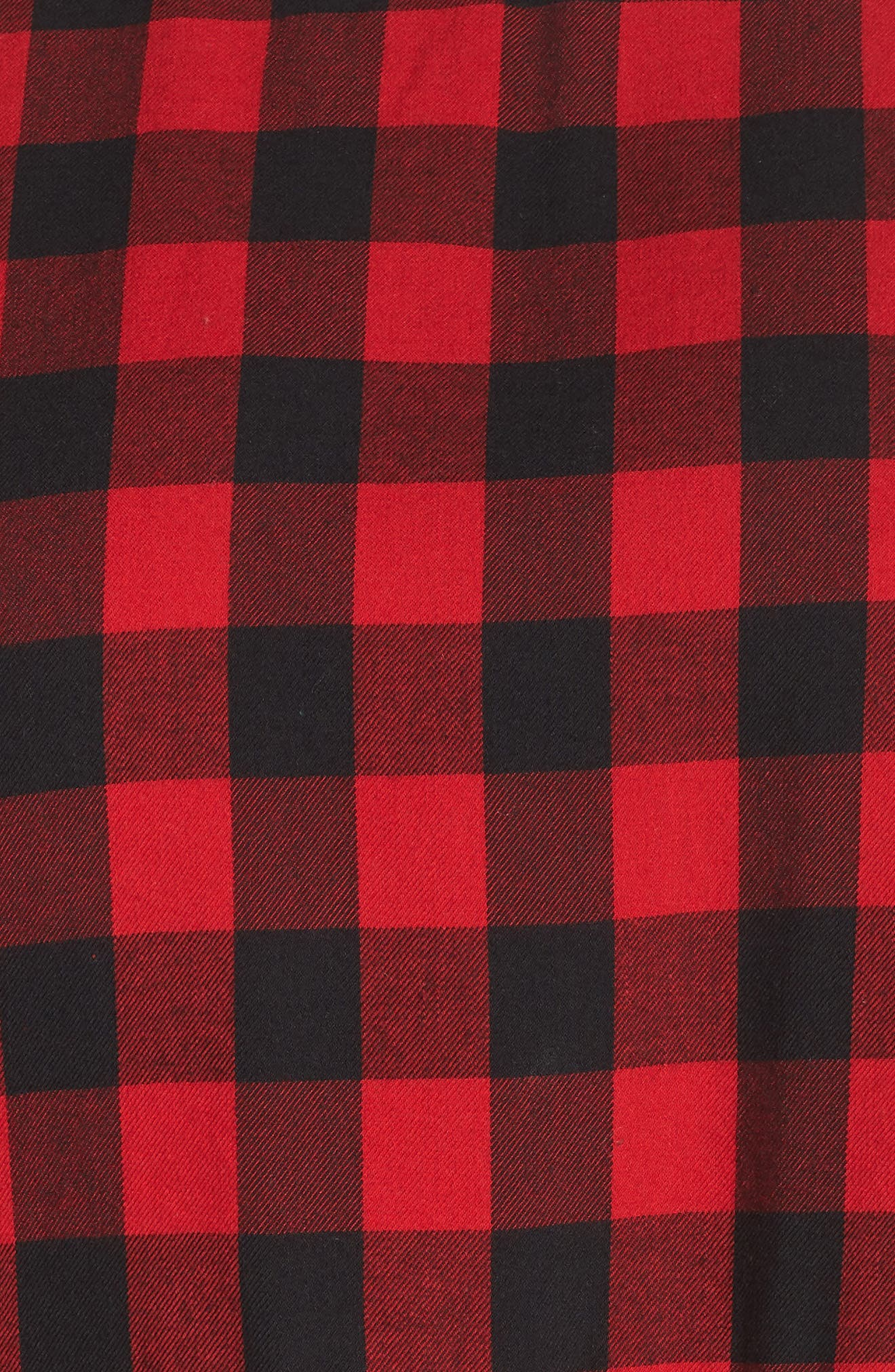 Plaid Peplum Top,                             Alternate thumbnail 5, color,                             RED CHINOISE DARCY CHECK