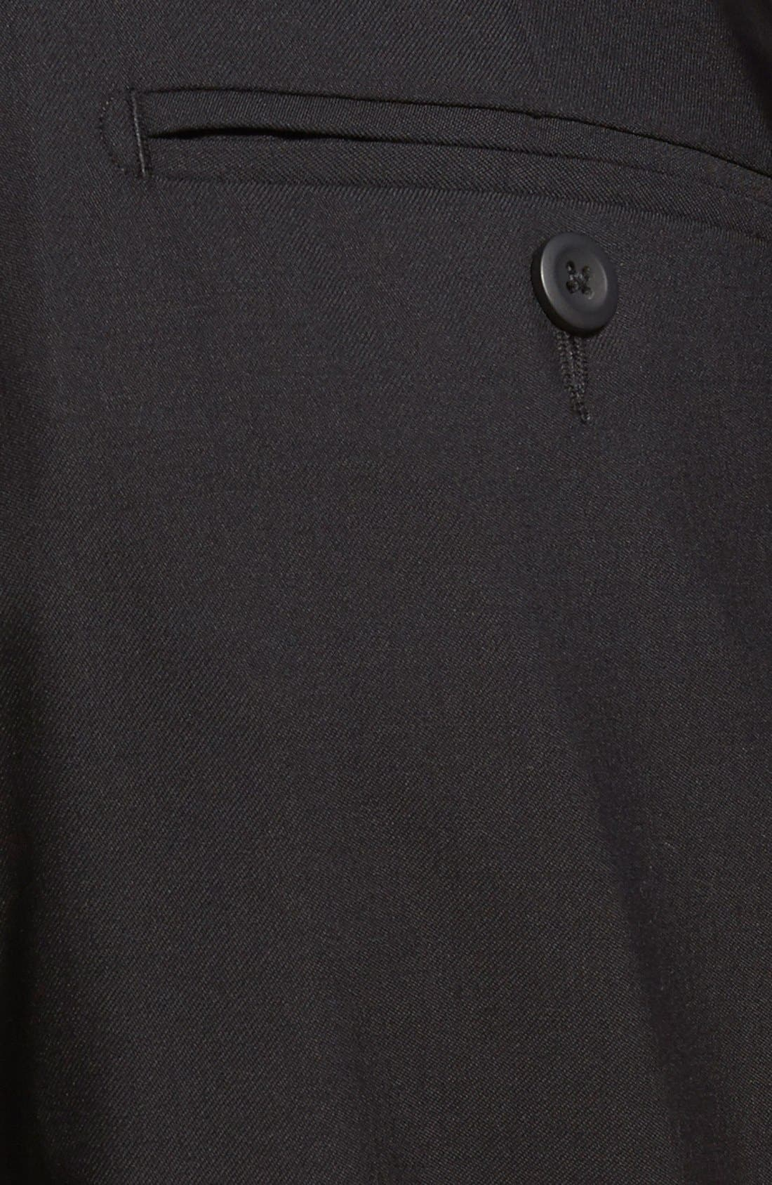 Pleated Wool Dress Pants,                             Alternate thumbnail 3, color,                             001
