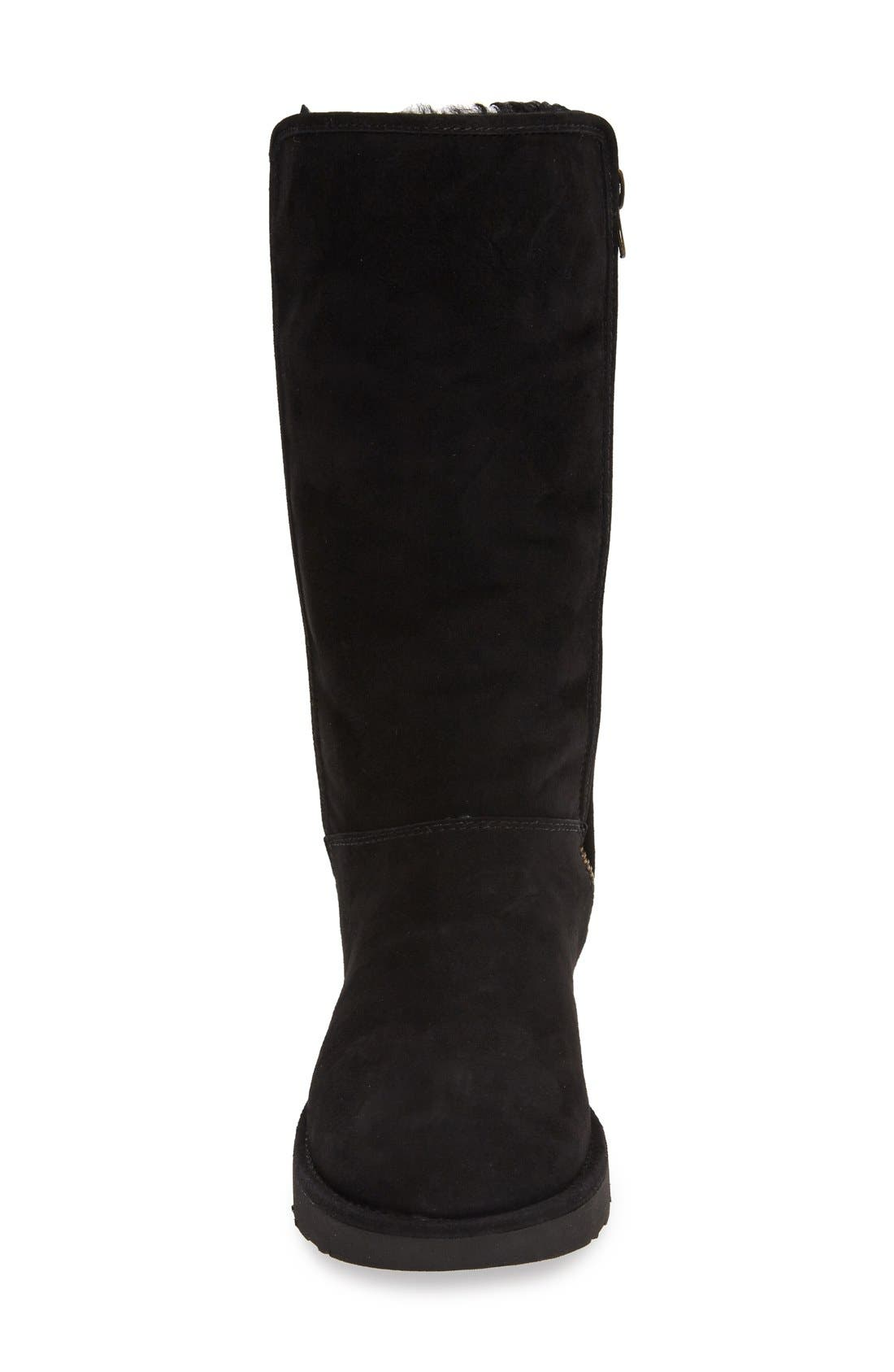 Abree II Tall Boot,                             Alternate thumbnail 7, color,                             NERO SUEDE