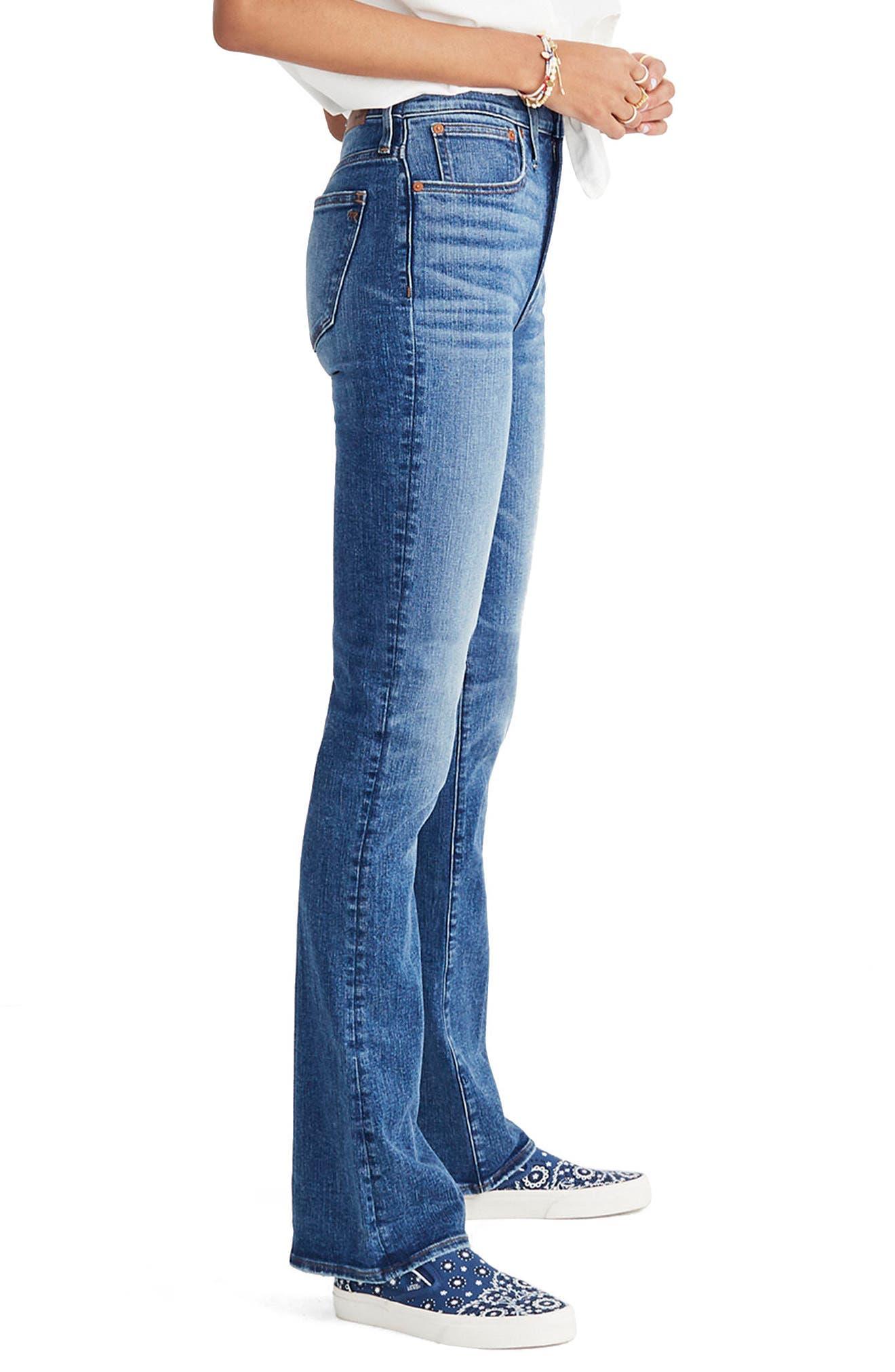 Skinny Flare Leg Jeans,                             Alternate thumbnail 3, color,                             400
