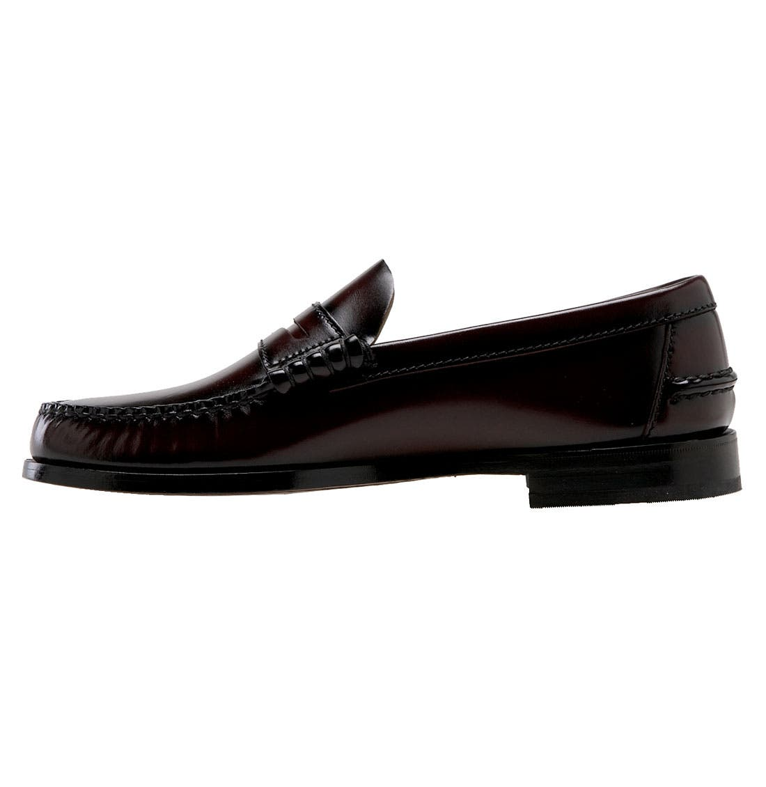 'Berkley' Penny Loafer,                             Alternate thumbnail 2, color,                             BURGUNDY