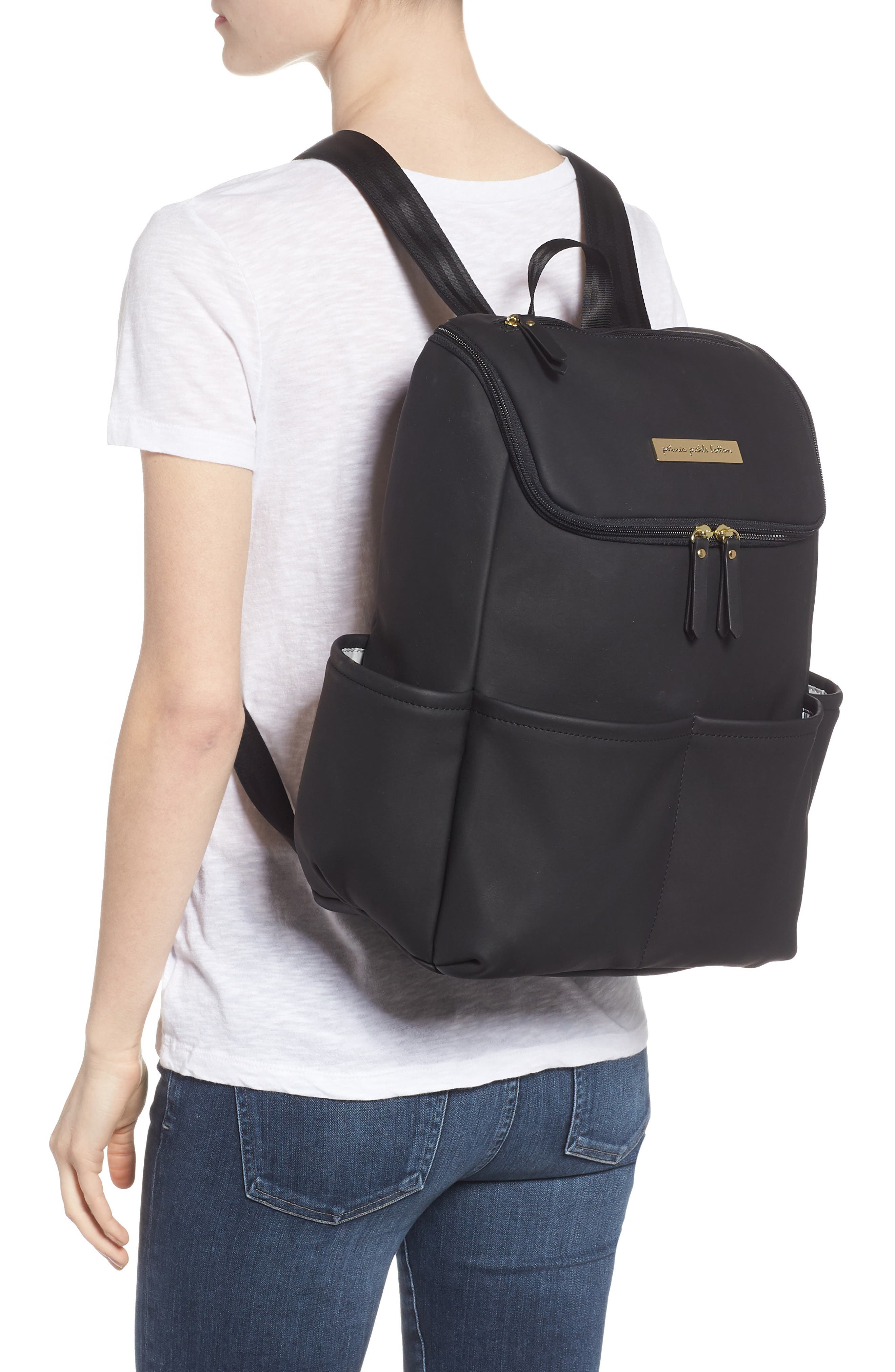 Method Diaper Backpack,                             Alternate thumbnail 2, color,                             BLACK MATTE LEATHERETTE