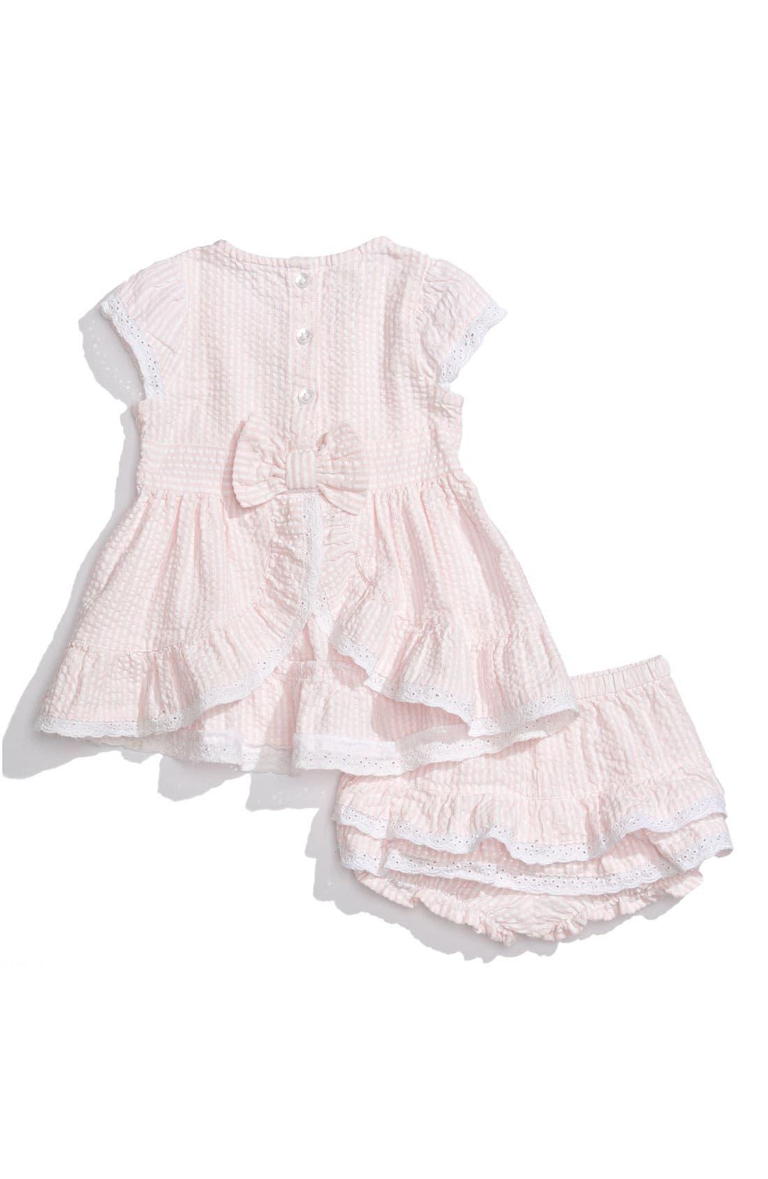 NORDSTROM BABY Seersucker Dress, Main, color, 960