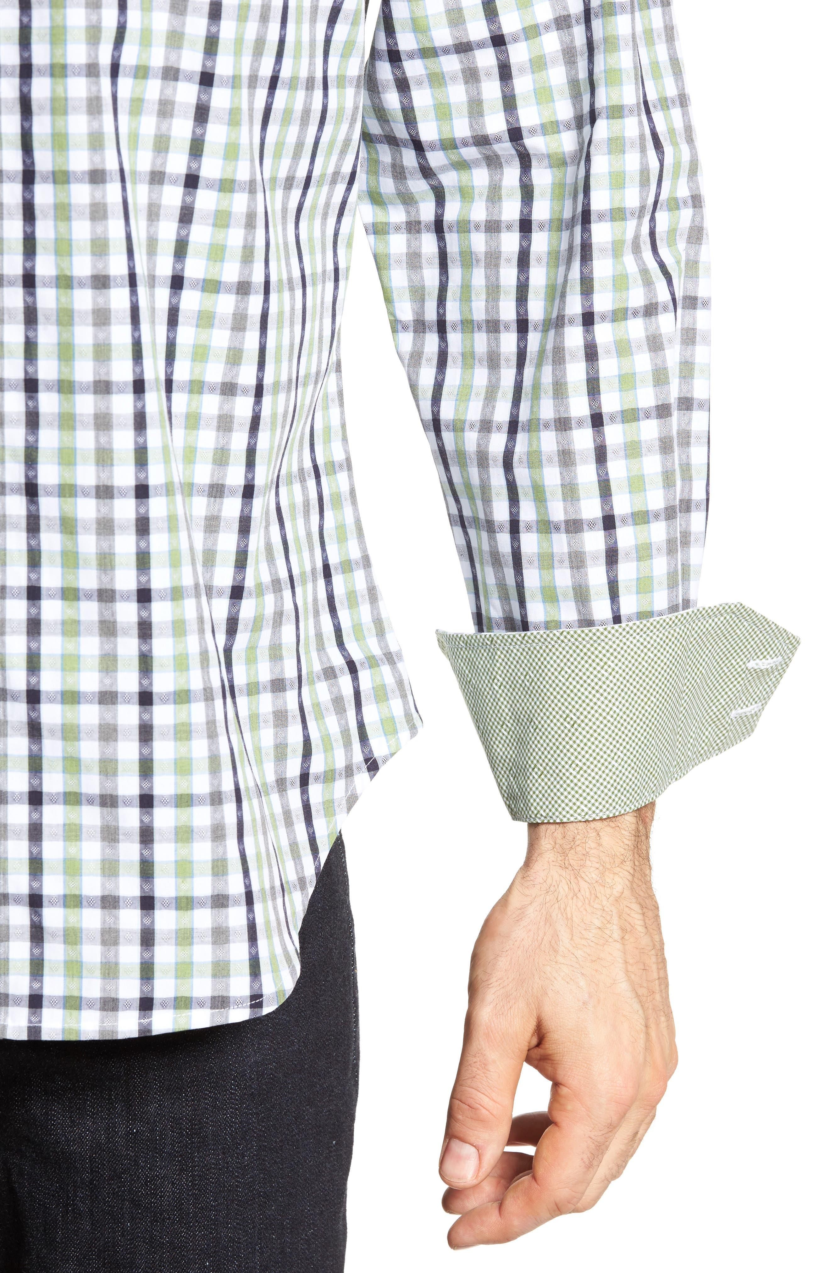 Plaid Sport Shirt,                             Alternate thumbnail 4, color,                             300