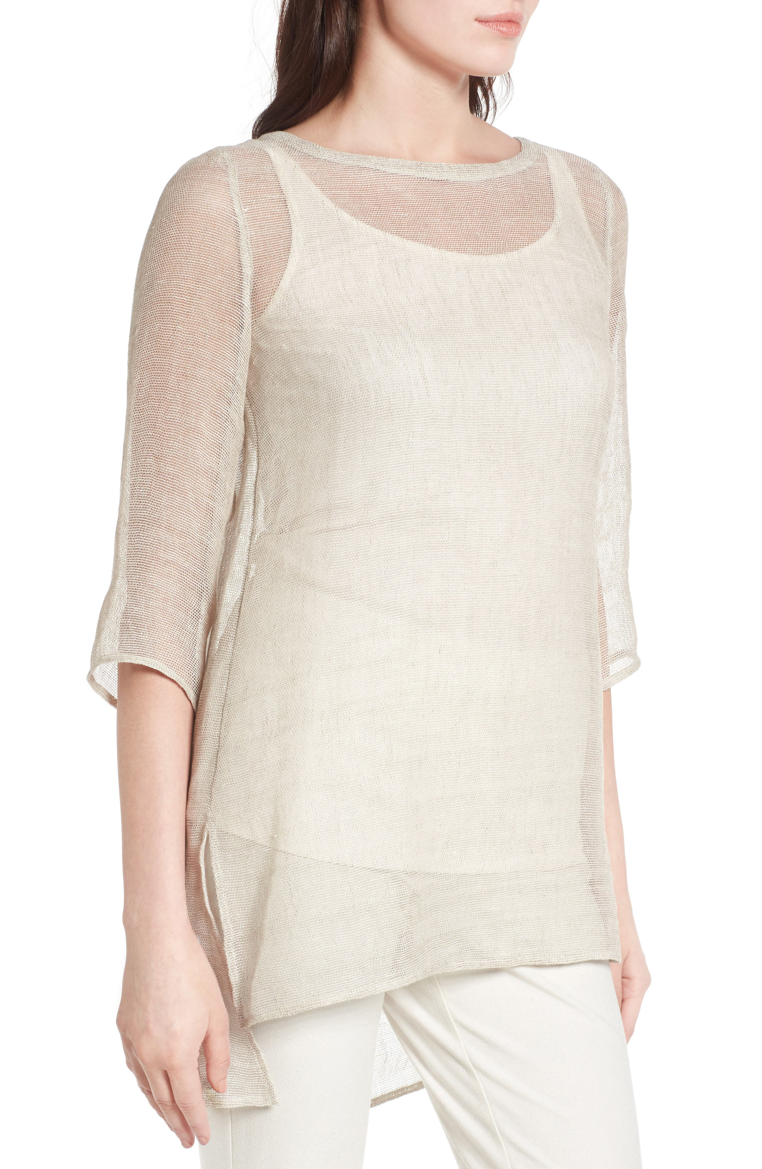 Organic Linen Blend Tunic,                             Alternate thumbnail 11, color,